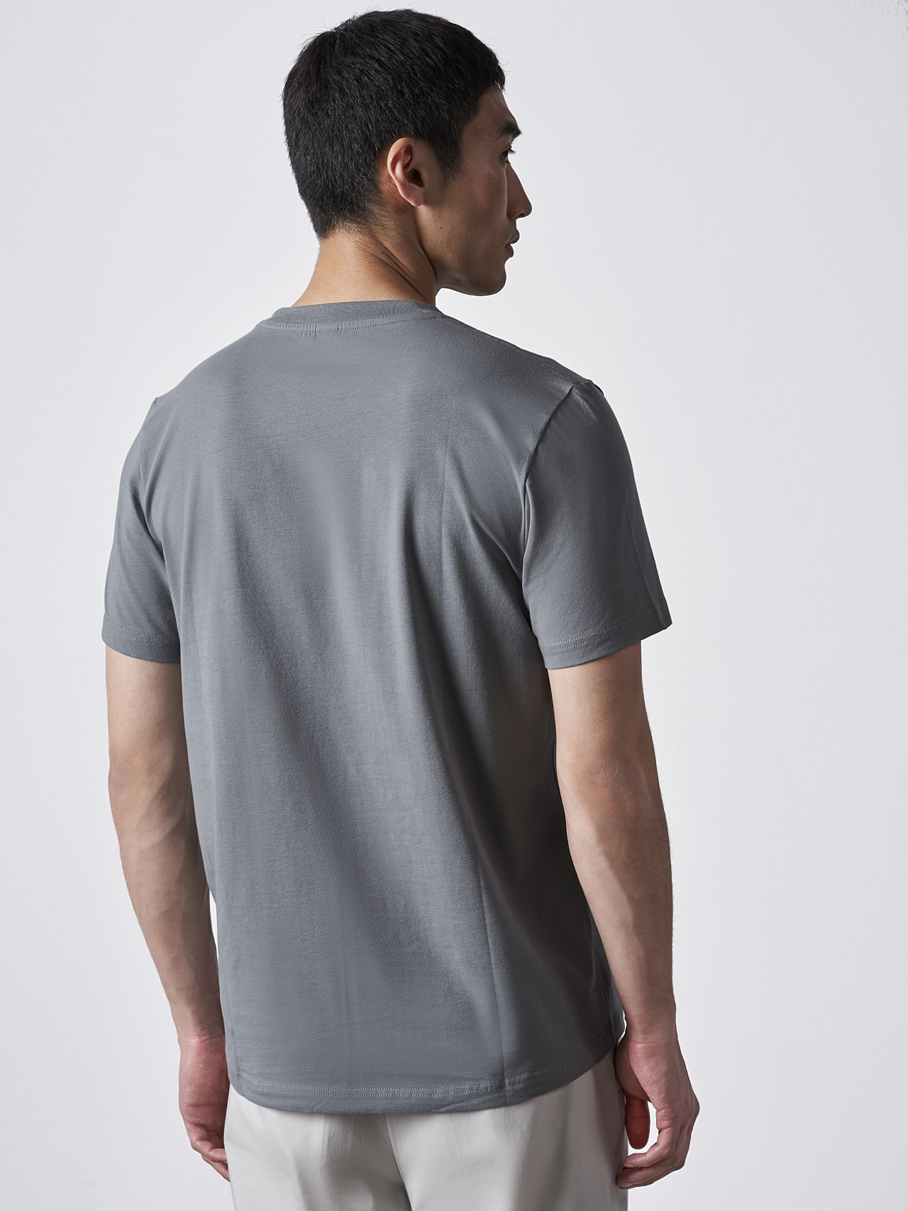 JERO V2.Y4.02 Signature Logo T-Shirt Grey Front Main Alpha Tauri