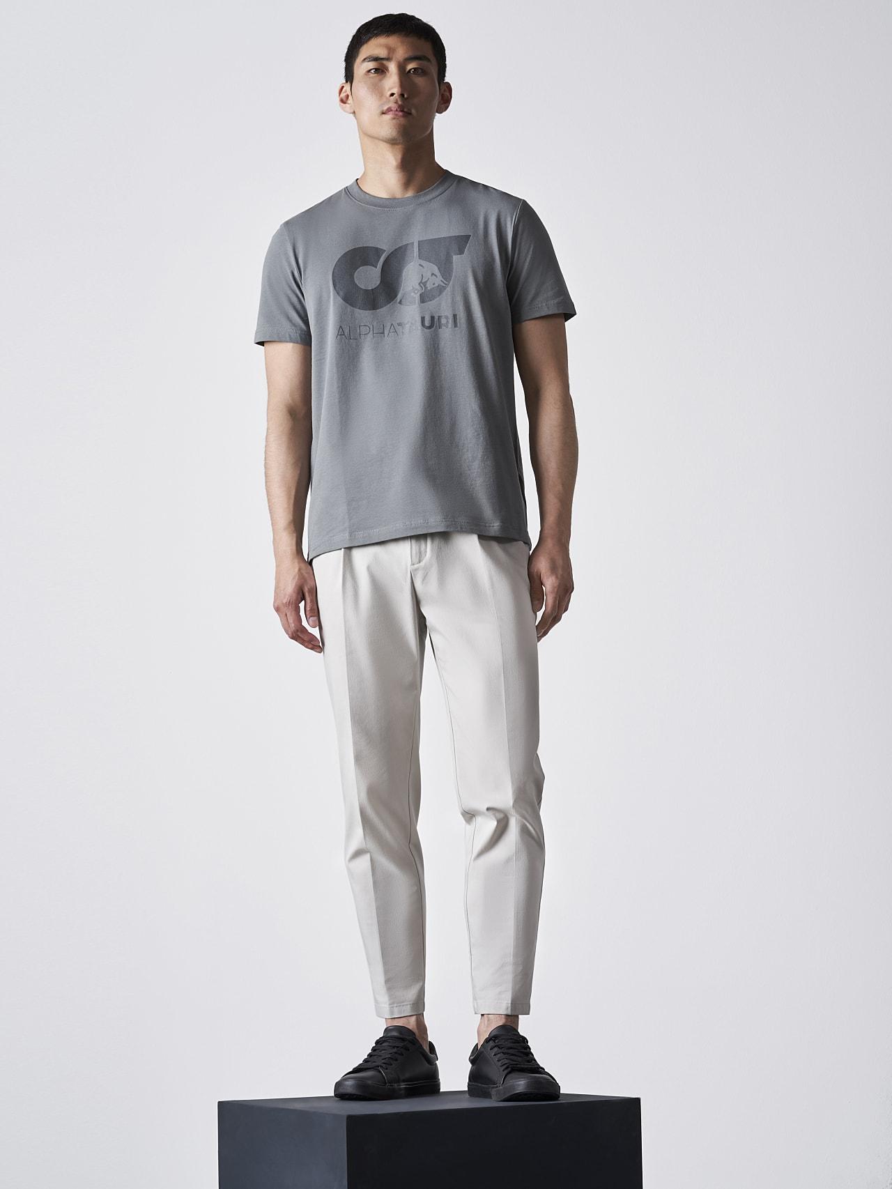JERO V2.Y4.02 Signature Logo T-Shirt Grey Front Alpha Tauri