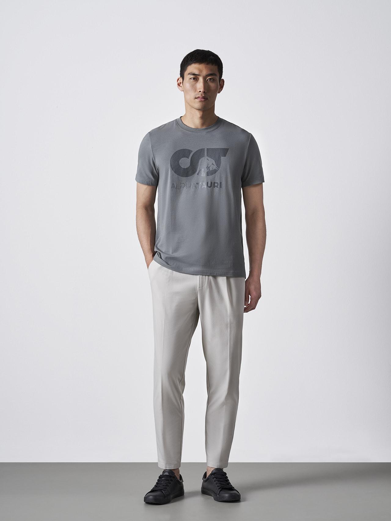 JERO V2.Y4.02 Signature Logo T-Shirt Grey Right Alpha Tauri