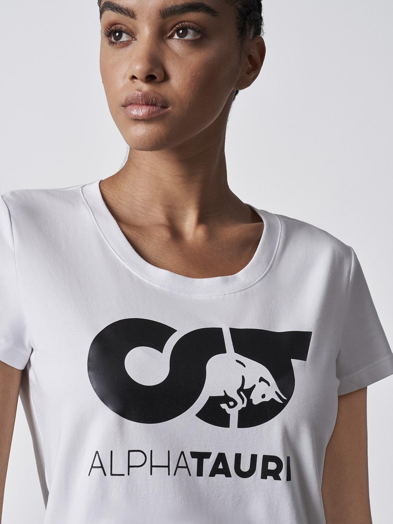 JERU V2.Y4.02 Signature Logo T-Shirt white Right Alpha Tauri