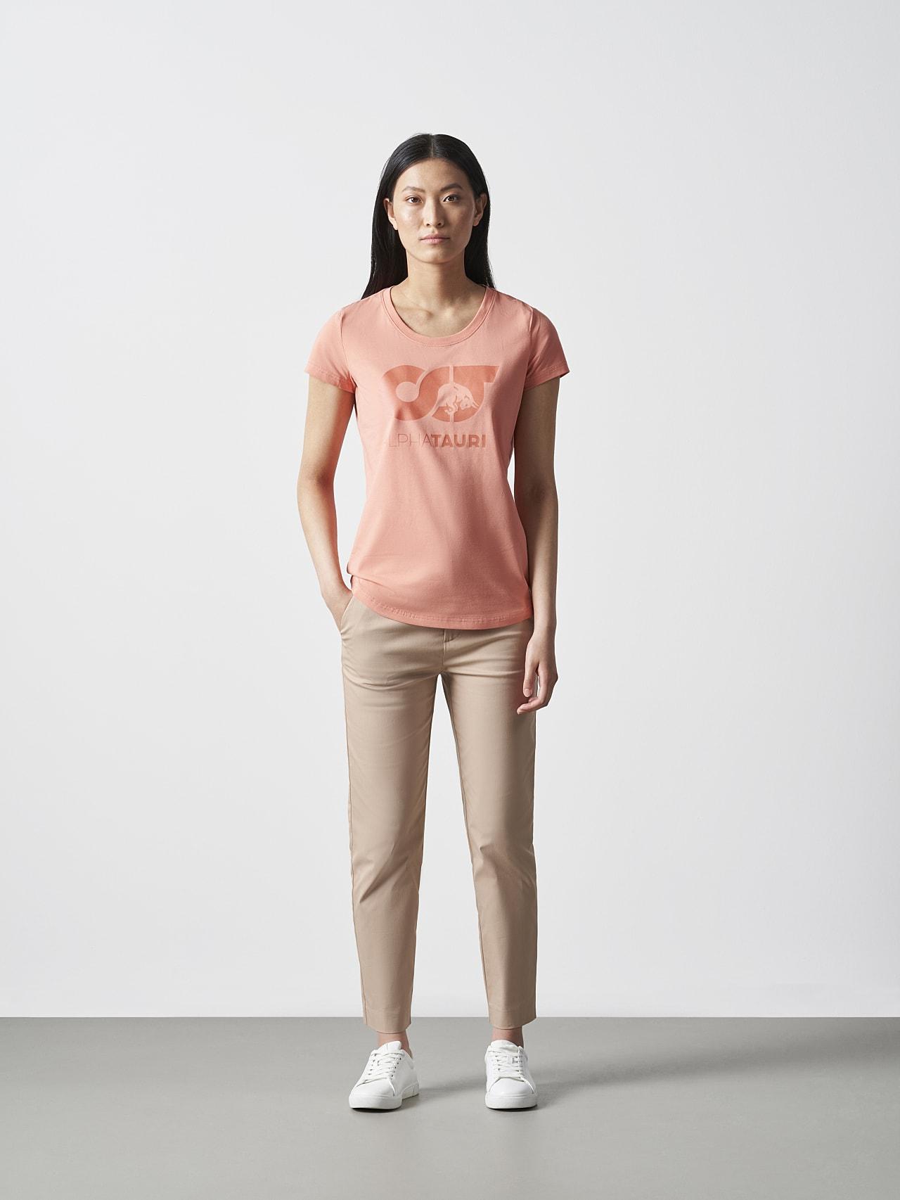 JERU V2.Y4.02 Signature Logo T-Shirt coral Front Alpha Tauri