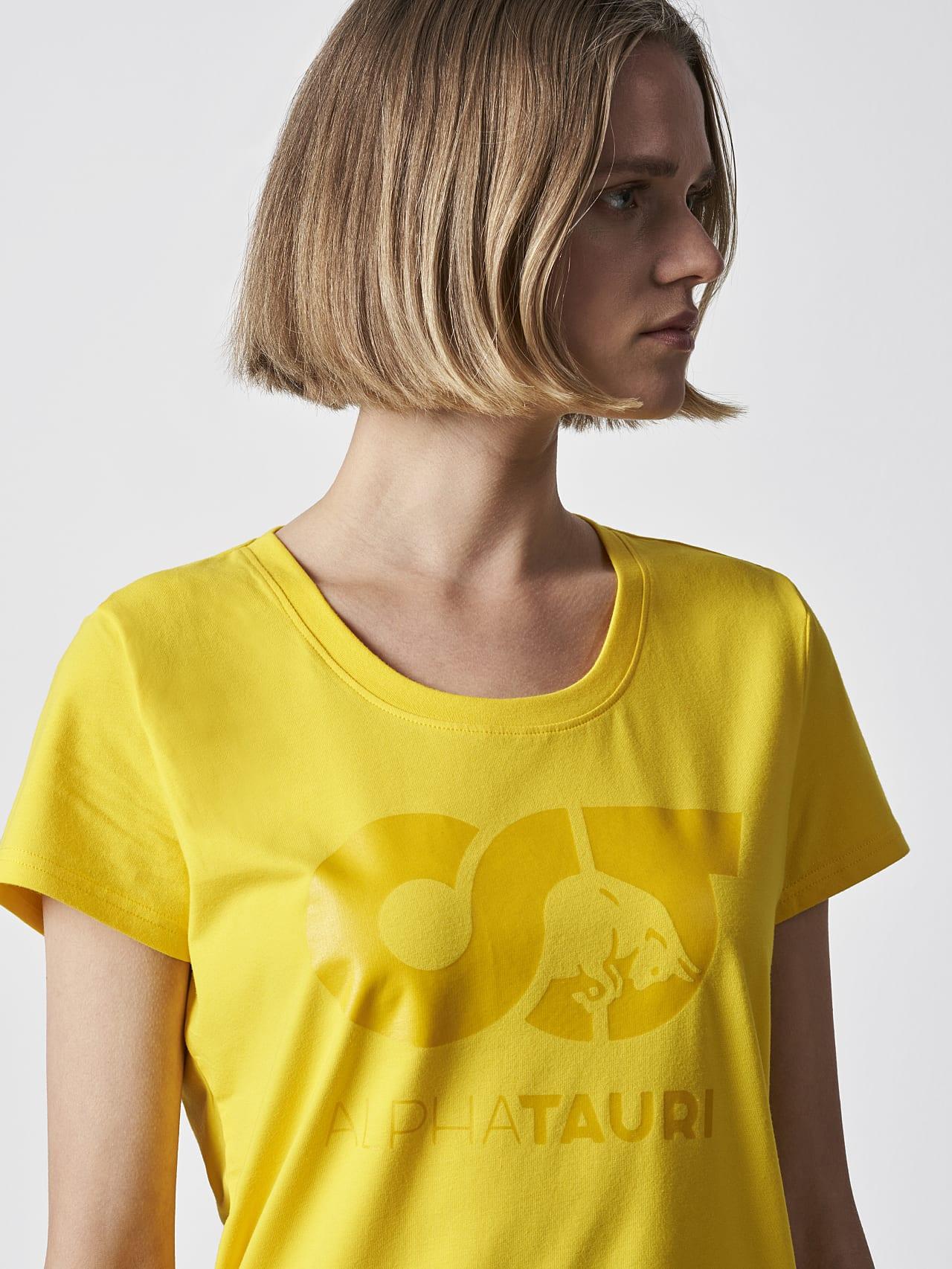 JERU V2.Y4.02 Signature Logo T-Shirt yellow Right Alpha Tauri