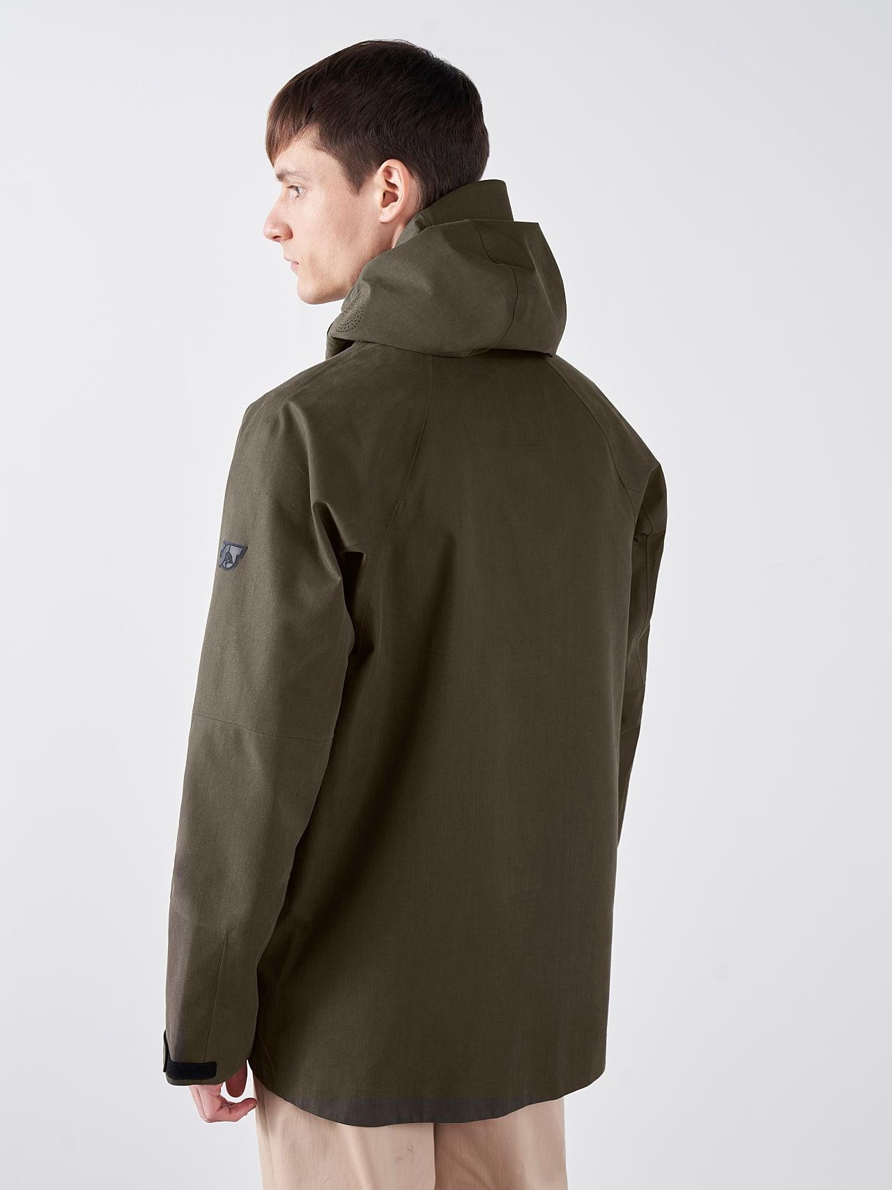 OKOVO V3.Y5.01 Packable Waterproof Jacket olive Front Main Alpha Tauri