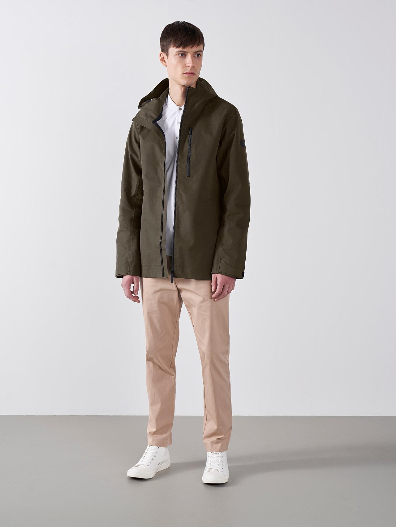 OKOVO V3.Y5.01 Packable Waterproof Jacket olive Front Alpha Tauri