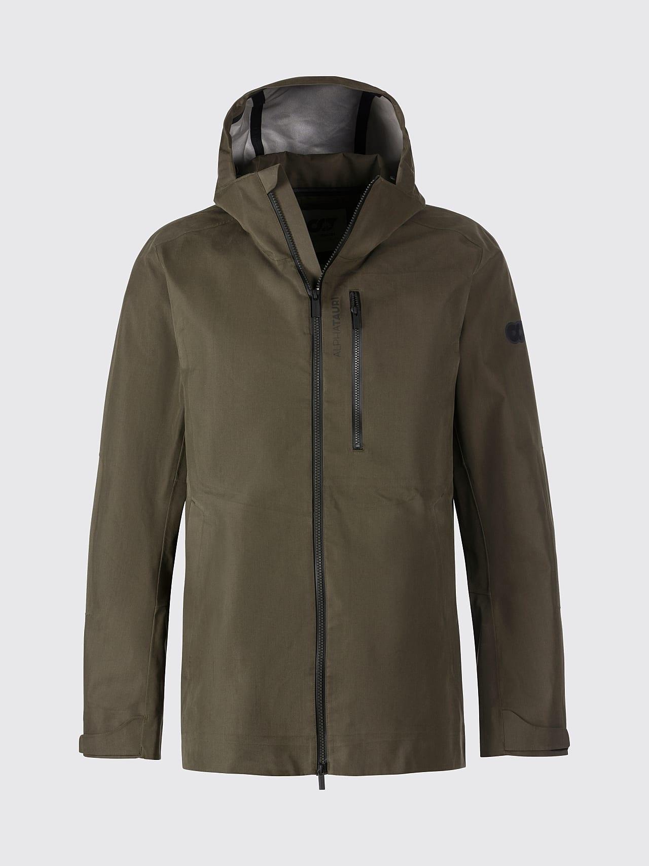 OKOVO V3.Y5.01 Packable Waterproof Jacket olive Back Alpha Tauri
