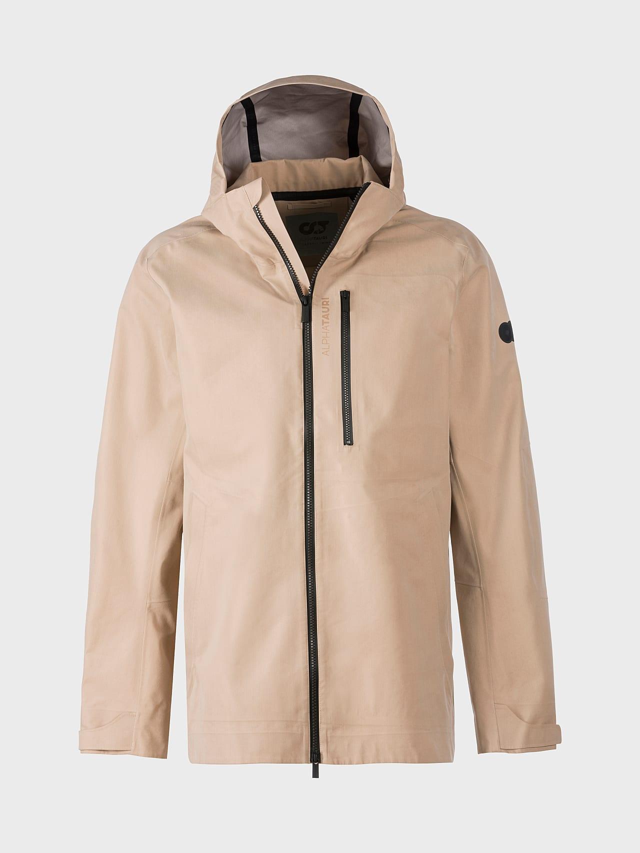 OKOVO V3.Y5.01 Packable Waterproof Jacket Sand Back Alpha Tauri