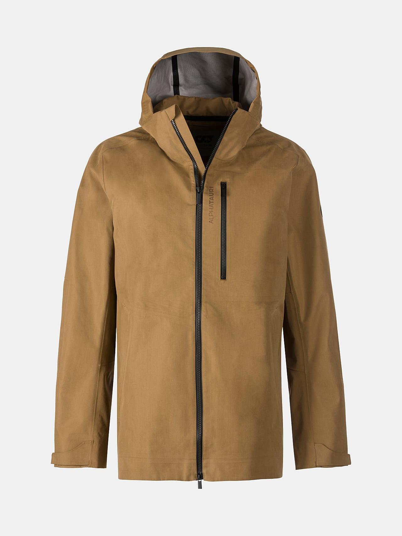 OKOVO V3.Y5.01 Packable Waterproof Jacket brown Back Alpha Tauri