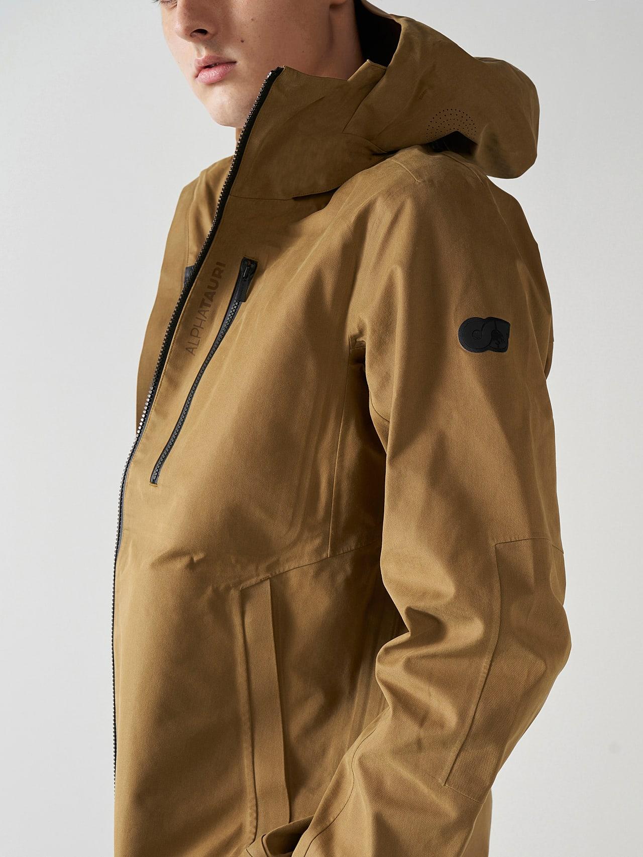 OKOVO V3.Y5.01 Packable Waterproof Jacket brown Right Alpha Tauri