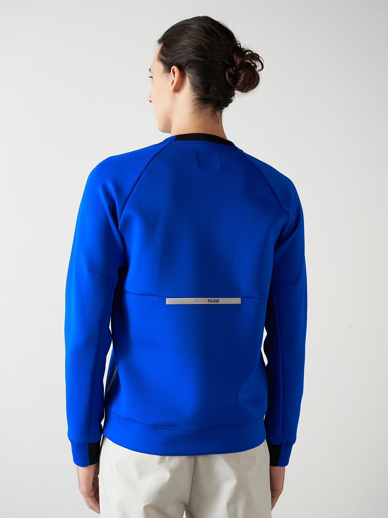 SUPRA V3.Y5.01 Technical Crewneck Sweater blue Front Main Alpha Tauri