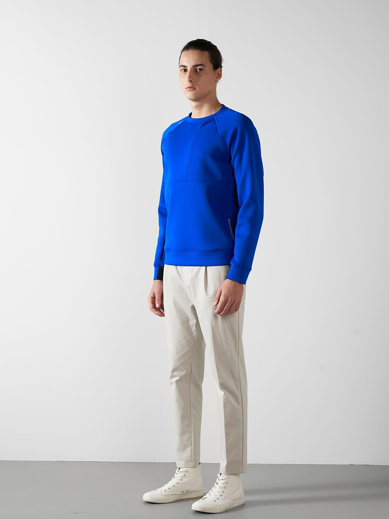 SUPRA V3.Y5.01 Technical Crewneck Sweater blue Front Alpha Tauri