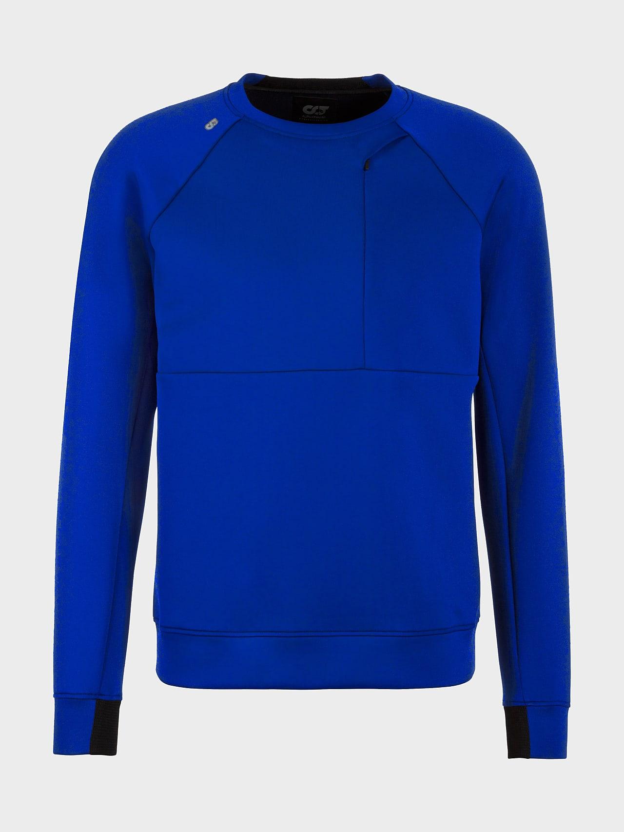 SUPRA V3.Y5.01 Technical Crewneck Sweater blue Back Alpha Tauri