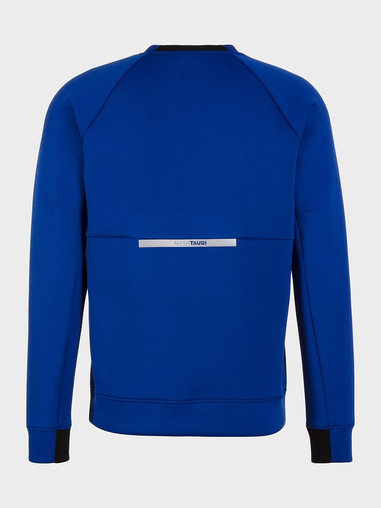 SUPRA V3.Y5.01 Technical Crewneck Sweater blue Left Alpha Tauri