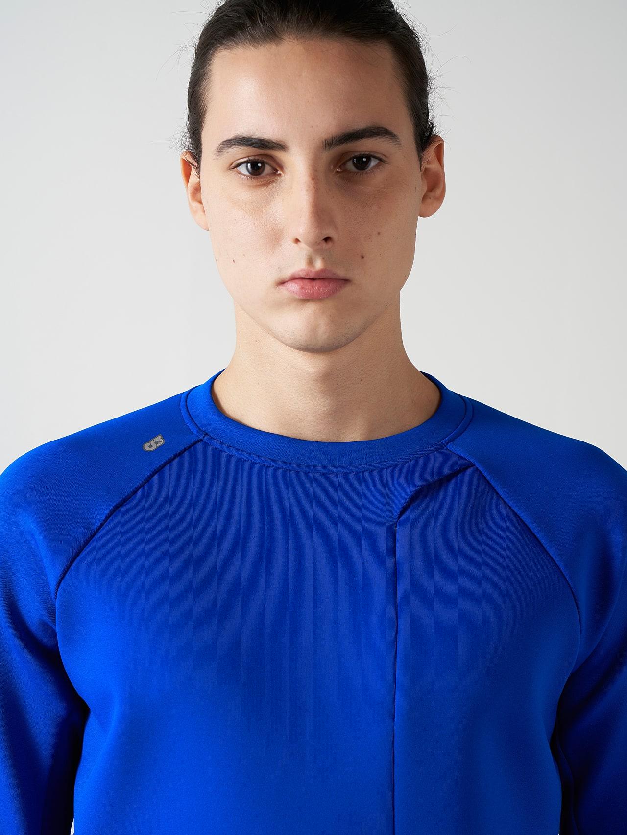 SUPRA V3.Y5.01 Technical Crewneck Sweater blue Right Alpha Tauri