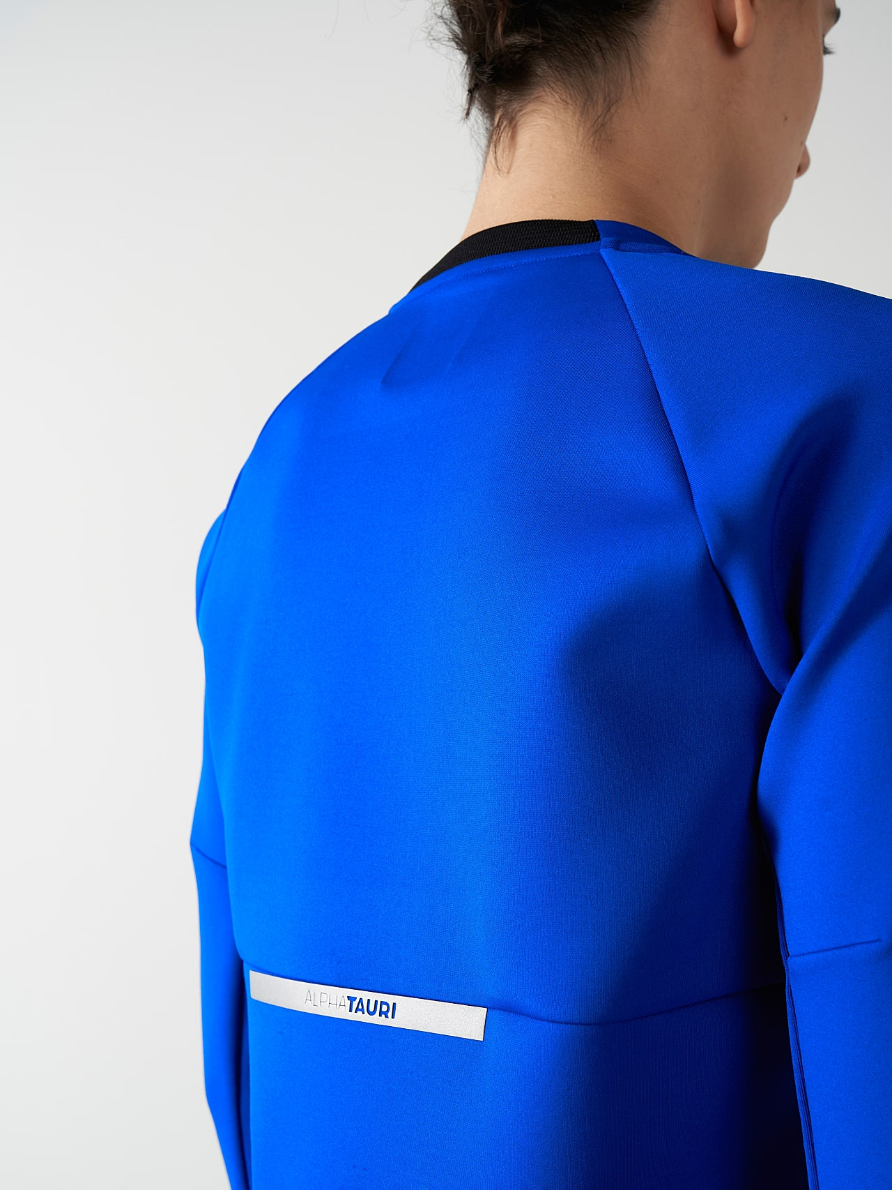 SUPRA V3.Y5.01 Technical Crewneck Sweater blue Extra Alpha Tauri