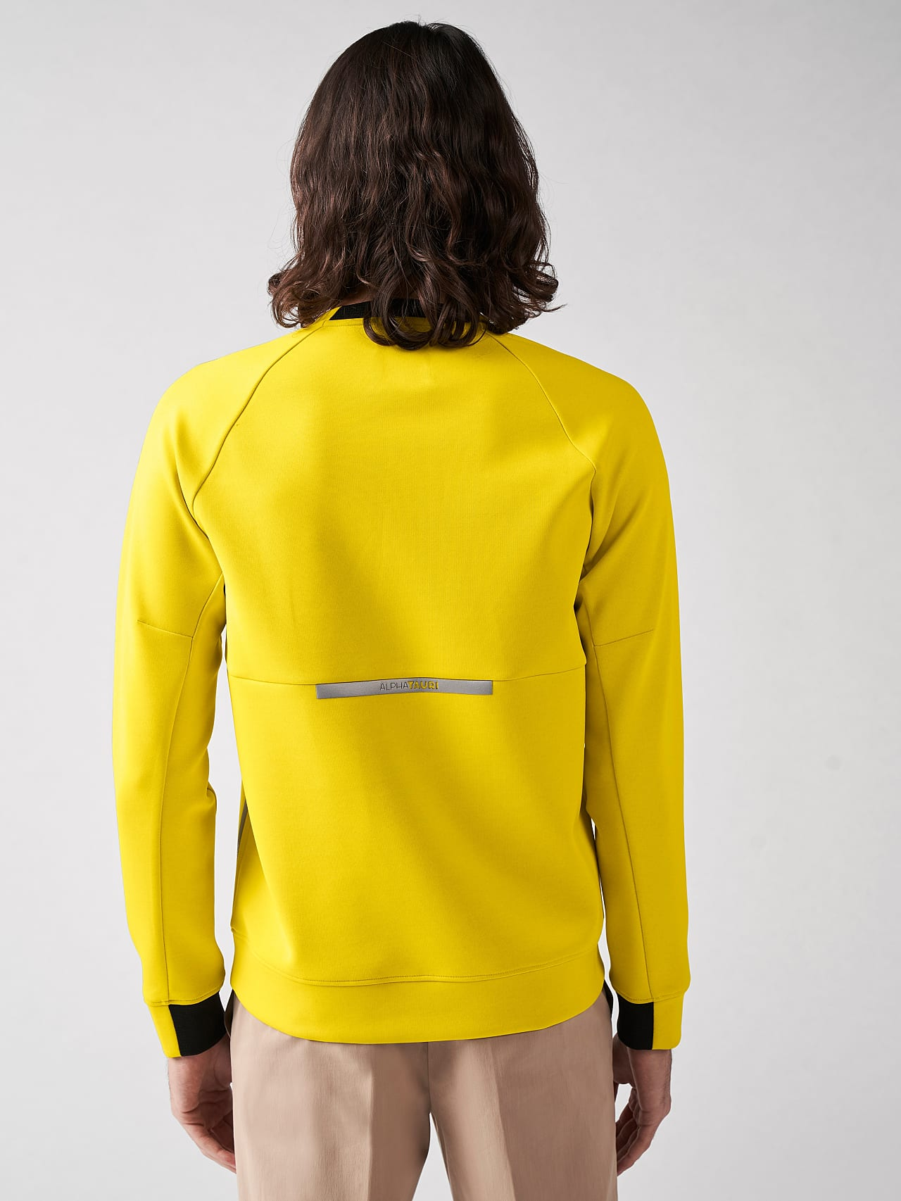SUPRA V3.Y5.01 Technical Crewneck Sweater yellow Front Main Alpha Tauri