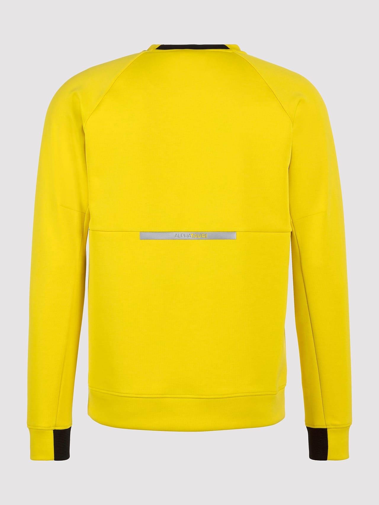 SUPRA V3.Y5.01 Technical Crewneck Sweater yellow Left Alpha Tauri