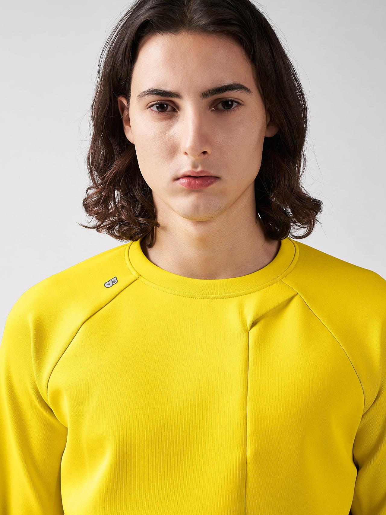 SUPRA V3.Y5.01 Technical Crewneck Sweater yellow Right Alpha Tauri