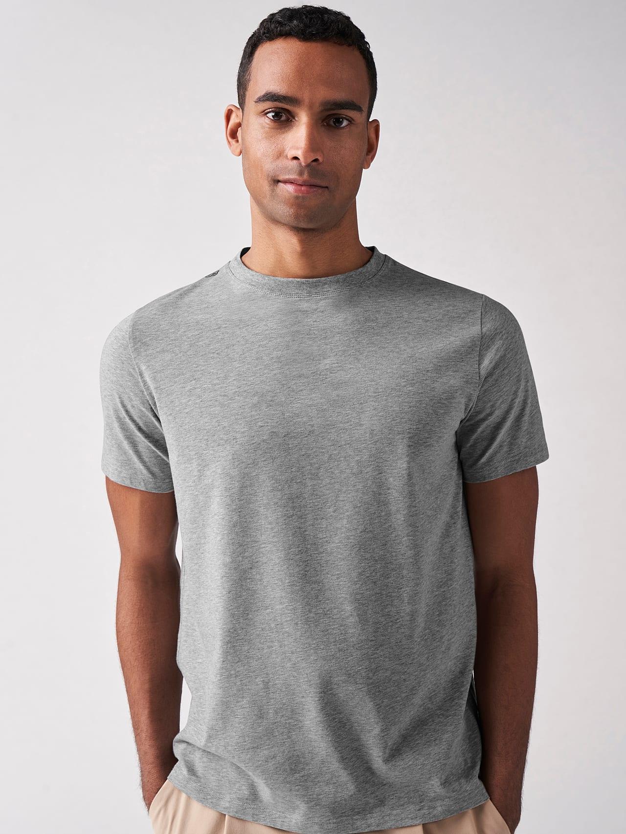 JALIP V1.Y5.01 Cotton Crew-Neck T-Shirt grey / melange Front Alpha Tauri