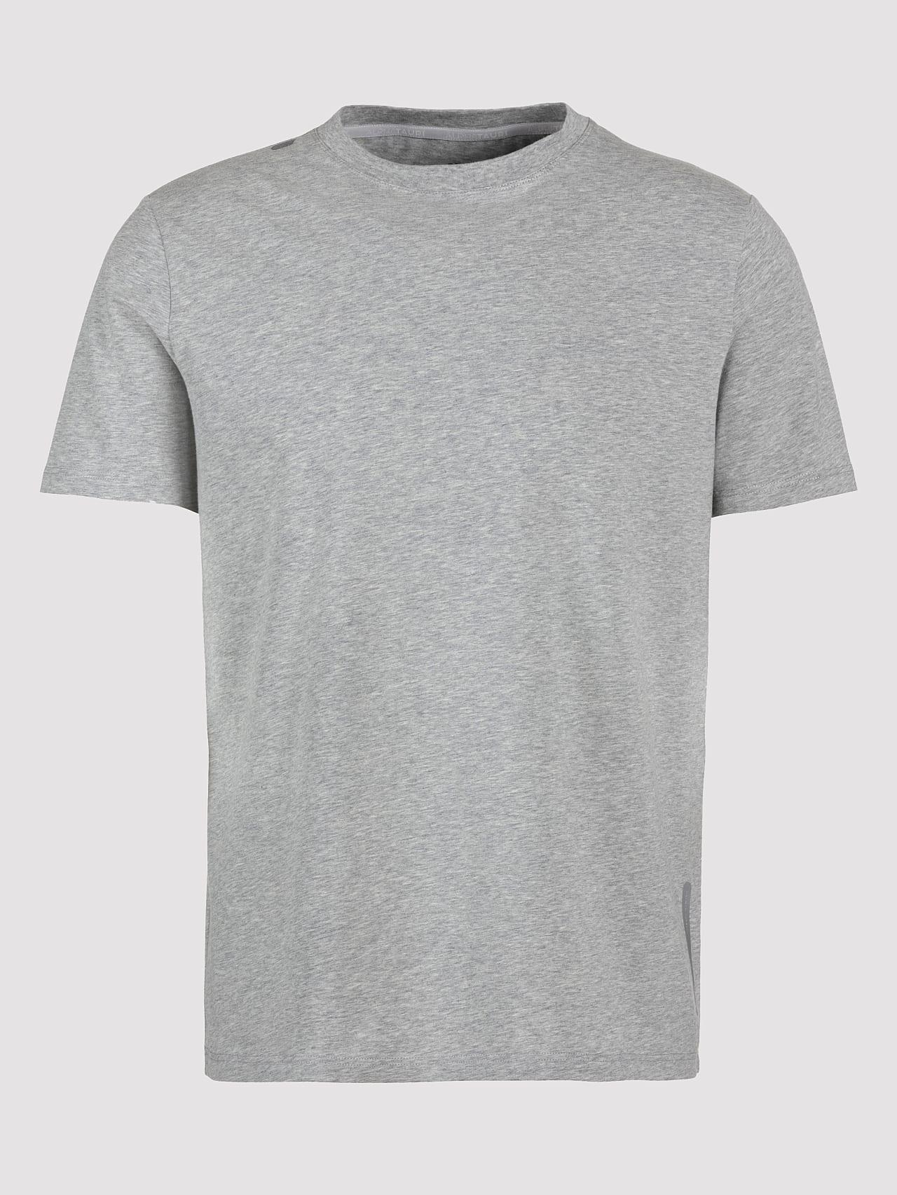 JALIP V1.Y5.01 Cotton Crew-Neck T-Shirt grey / melange Back Alpha Tauri