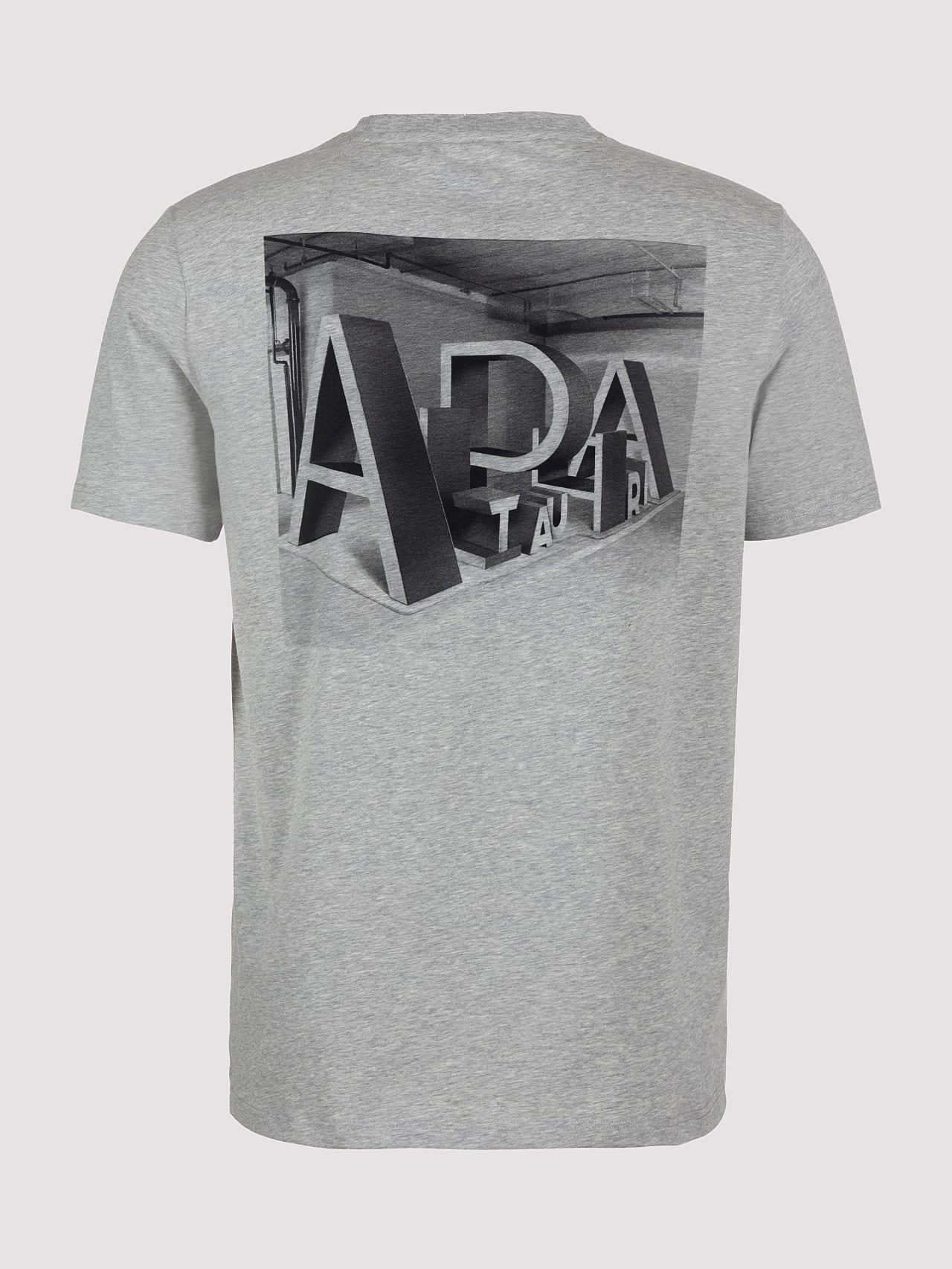 JALIP V1.Y5.01 Cotton Crew-Neck T-Shirt grey / melange Left Alpha Tauri