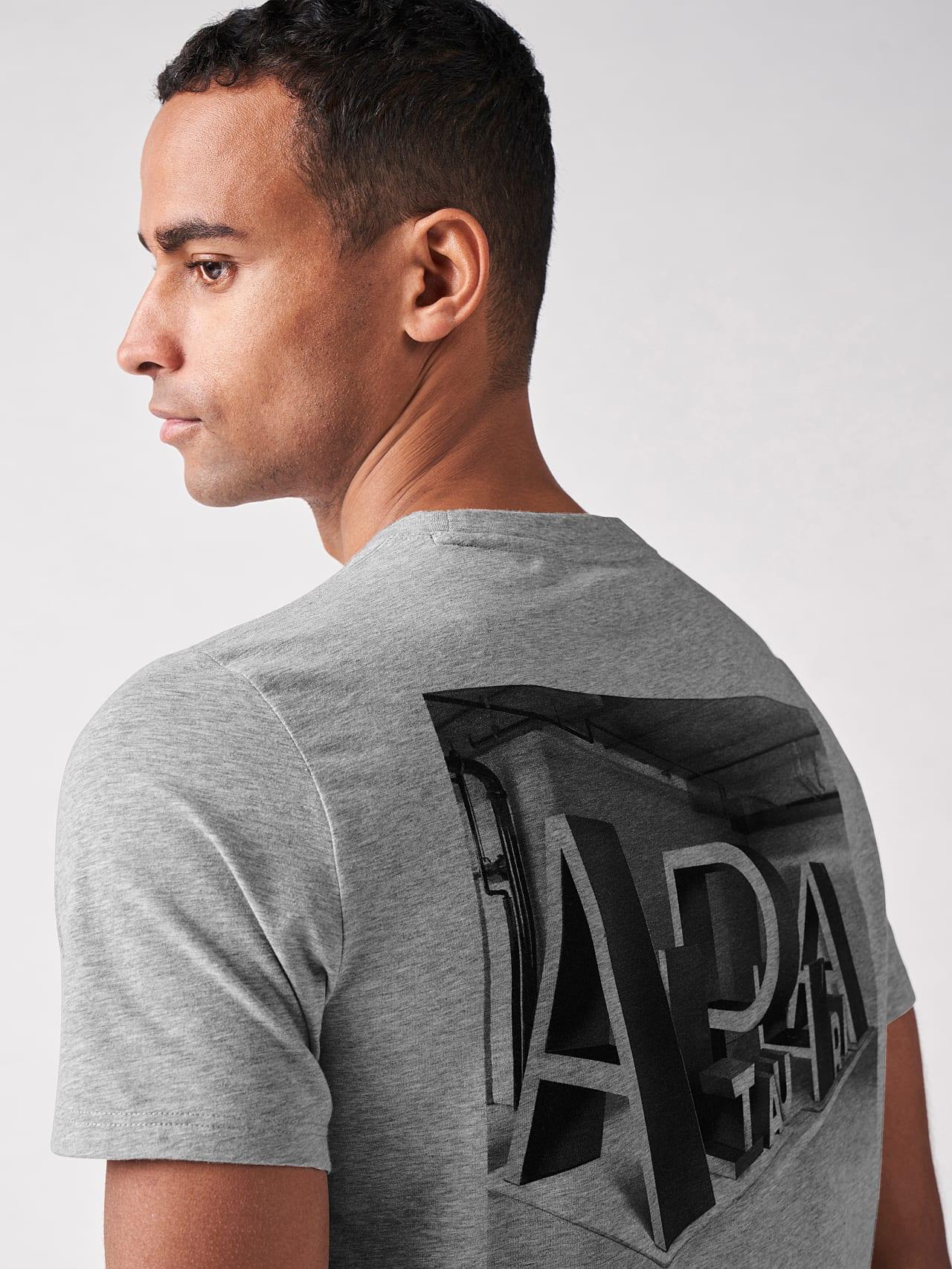 JALIP V1.Y5.01 Cotton Crew-Neck T-Shirt grey / melange Right Alpha Tauri