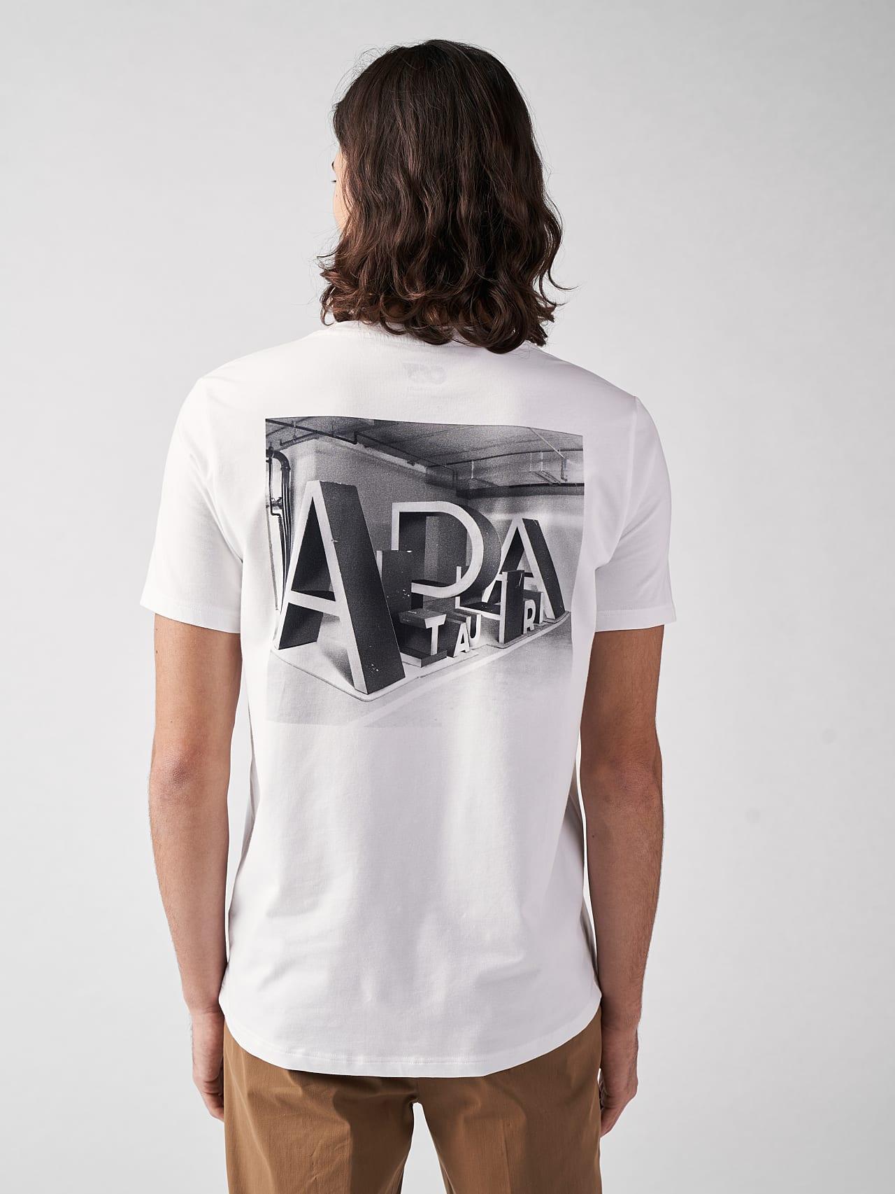 JALIP V1.Y5.01 Cotton Crew-Neck T-Shirt white Model shot Alpha Tauri