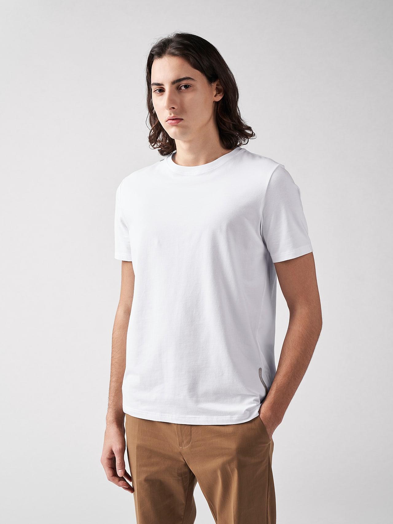 JALIP V1.Y5.01 Cotton Crew-Neck T-Shirt white Front Main Alpha Tauri