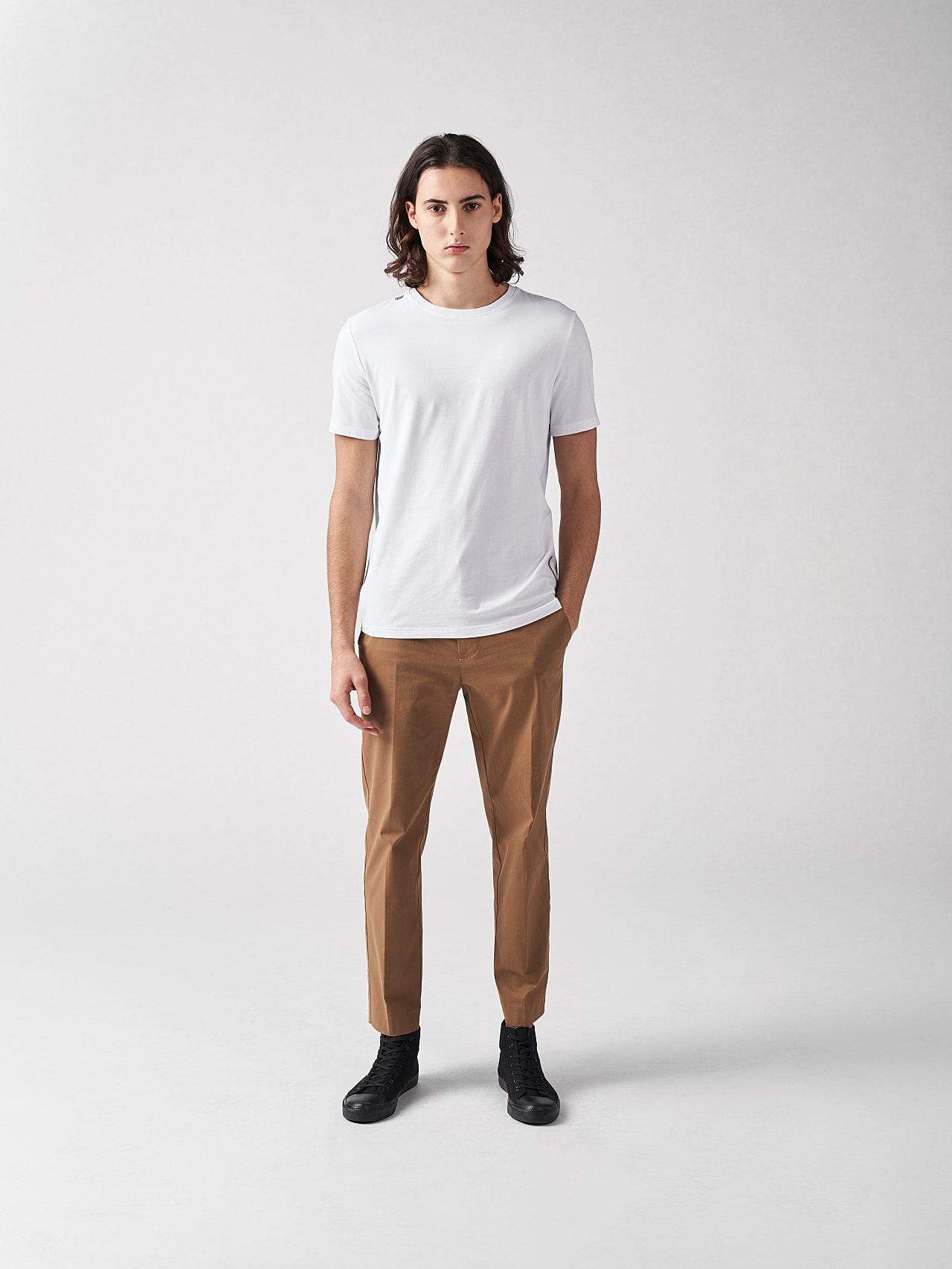 JALIP V1.Y5.01 Cotton Crew-Neck T-Shirt white Front Alpha Tauri