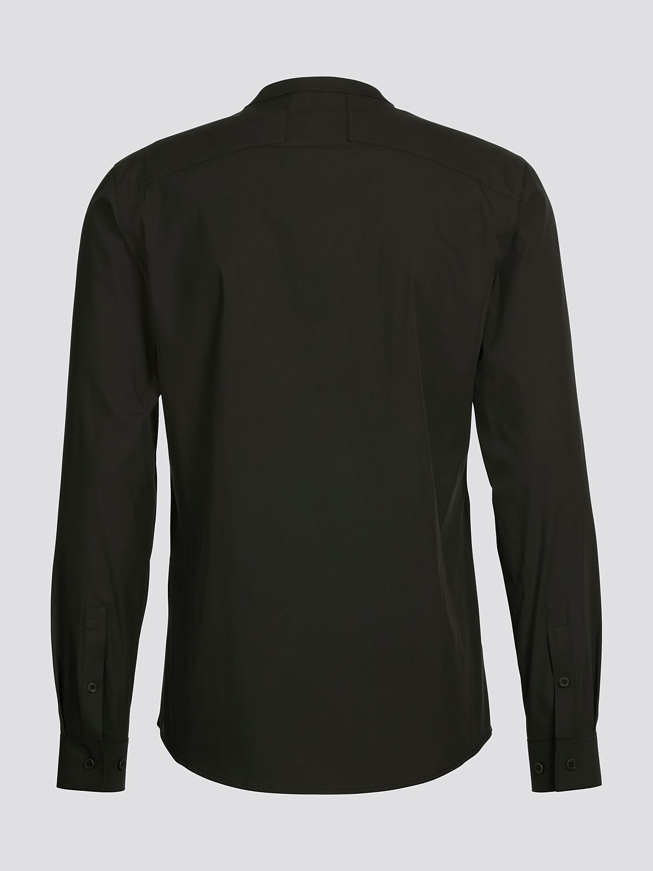 WIDT V9.Y5.01 Stand-Up Collar Cotton-Stretch Shirt olive Left Alpha Tauri