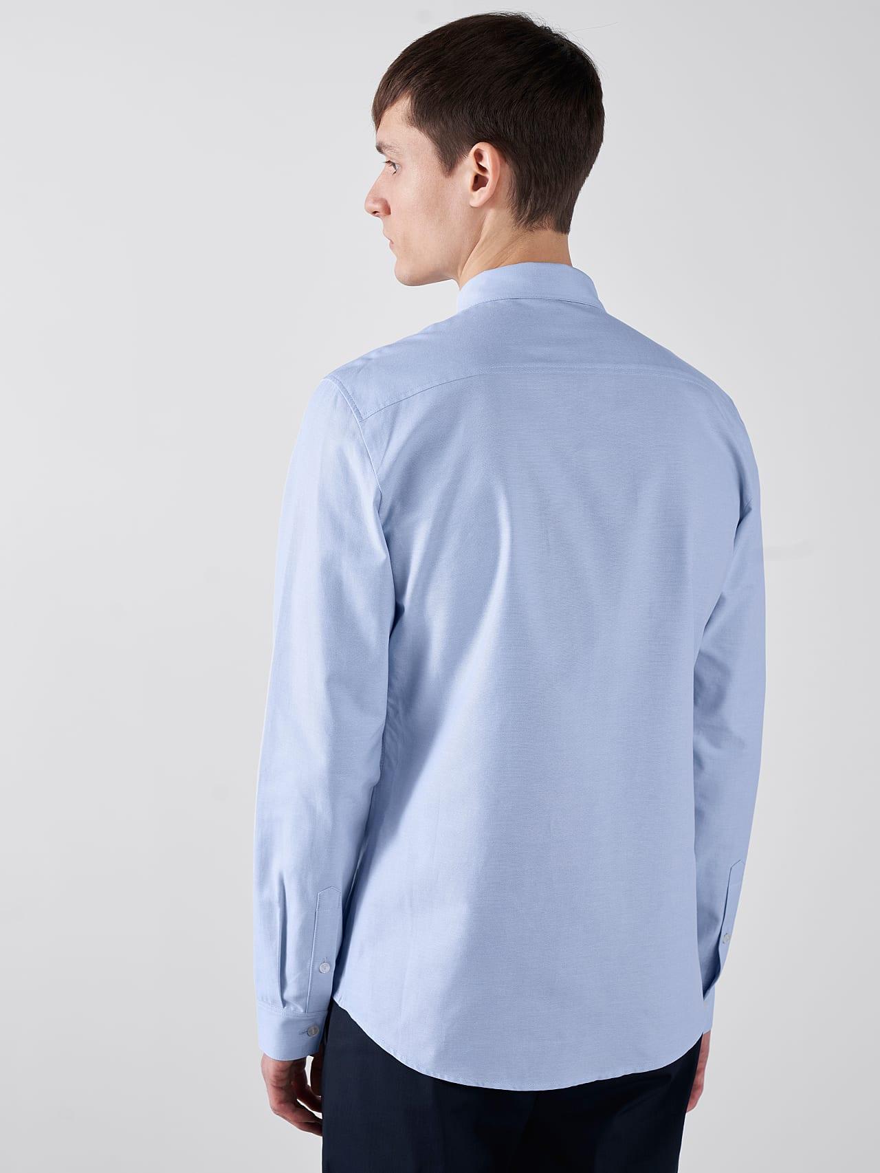 WOSKA V2.Y5.01 Kent Collar Oxford Shirt light blue Front Main Alpha Tauri