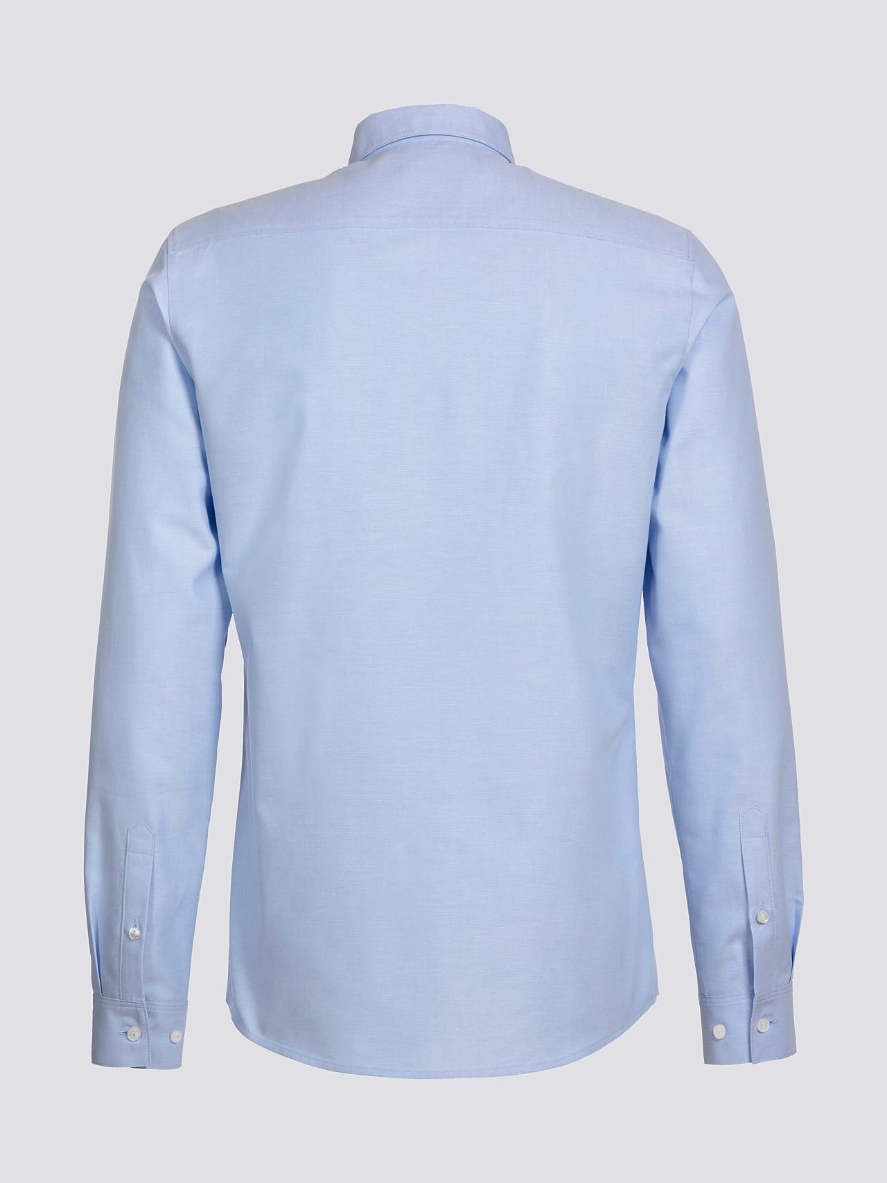 WOSKA V2.Y5.01 Kent Collar Oxford Shirt light blue Left Alpha Tauri