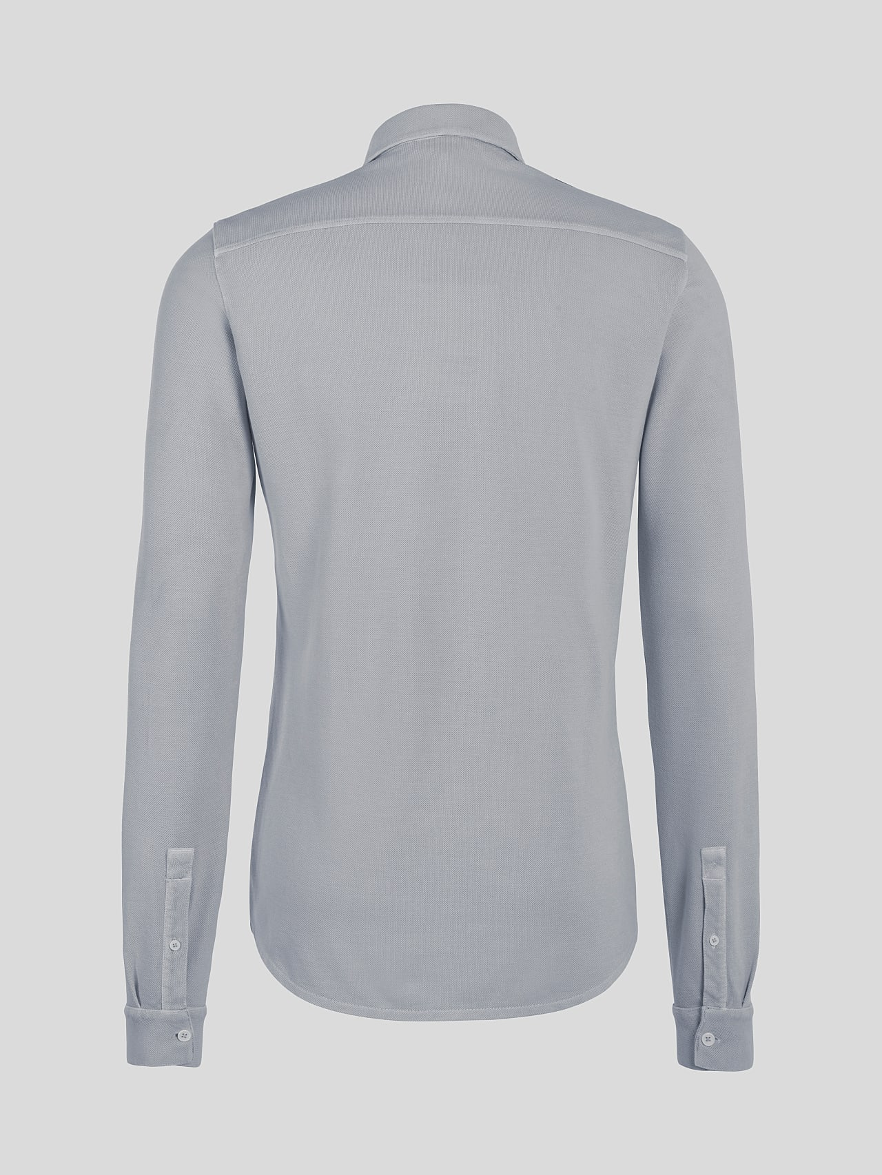 JIQUE V1.Y5.01 Pique Shirt with Kent Collar light grey Left Alpha Tauri