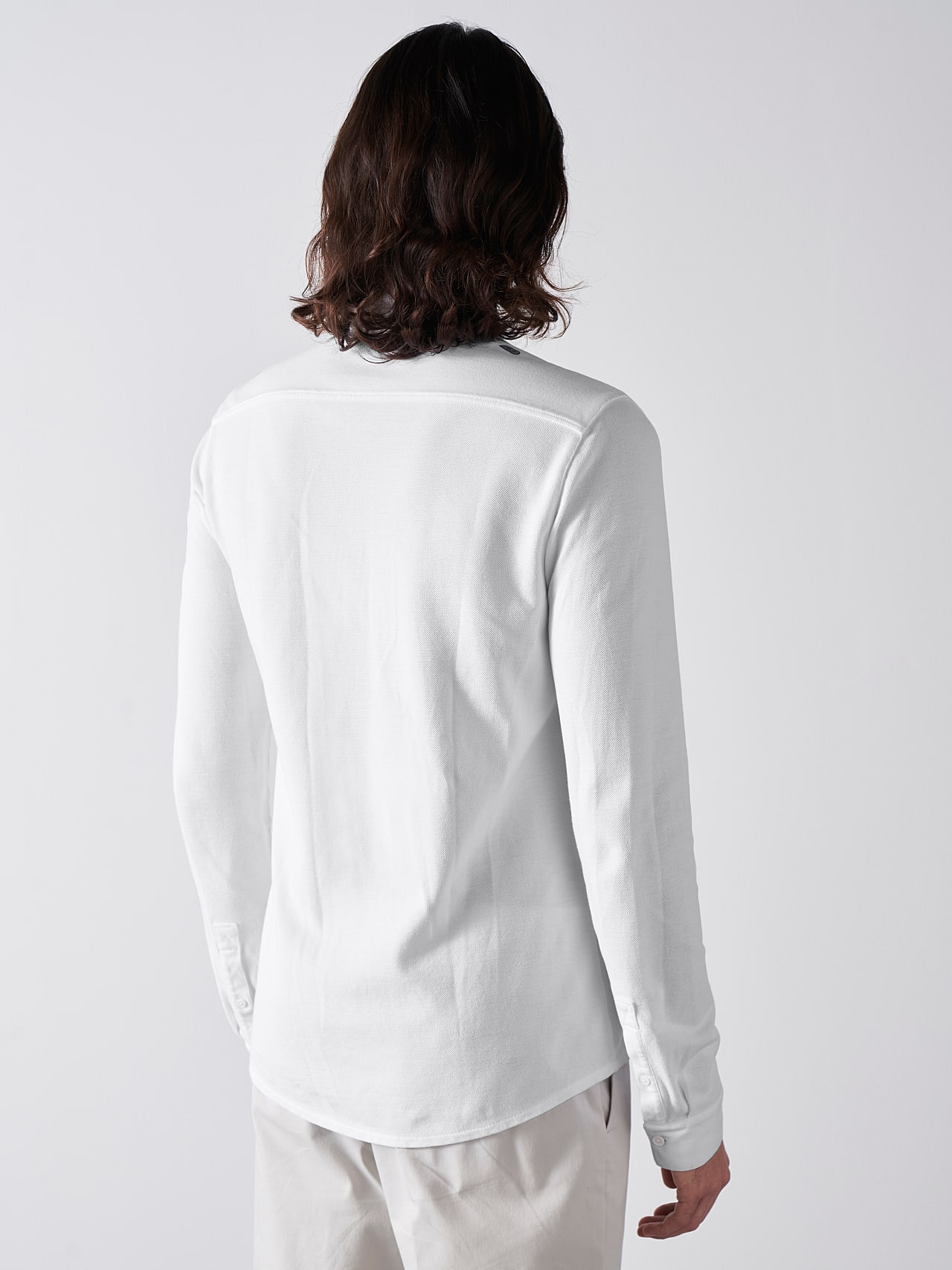 JIQUE V1.Y5.01 Pique Shirt with Kent Collar white Front Main Alpha Tauri