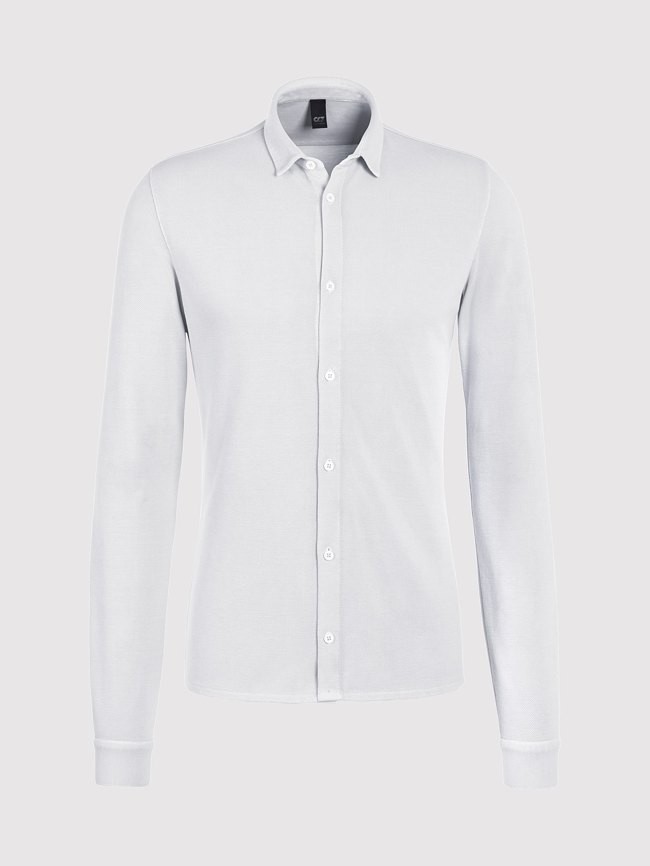 JIQUE V1.Y5.01 Pique Shirt with Kent Collar white Back Alpha Tauri