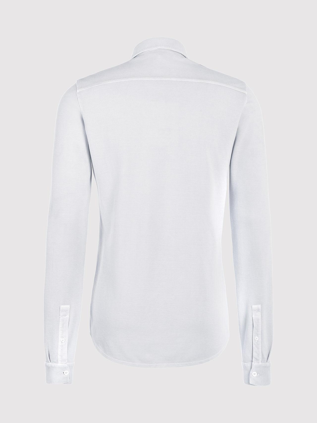 JIQUE V1.Y5.01 Pique Shirt with Kent Collar white Left Alpha Tauri