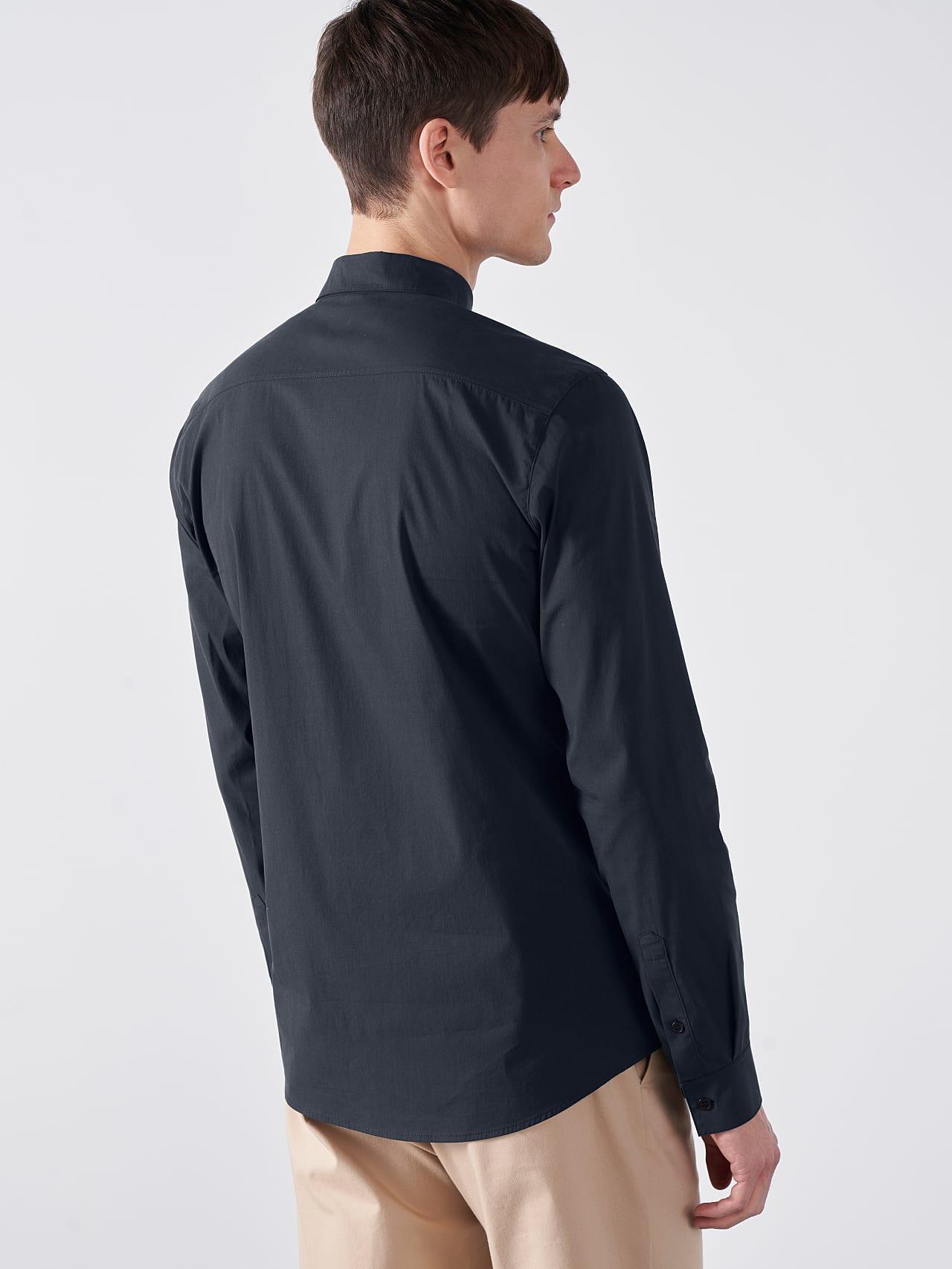 WAARG V1.Y5.01 Cotton-Stretch Shirt navy Front Main Alpha Tauri