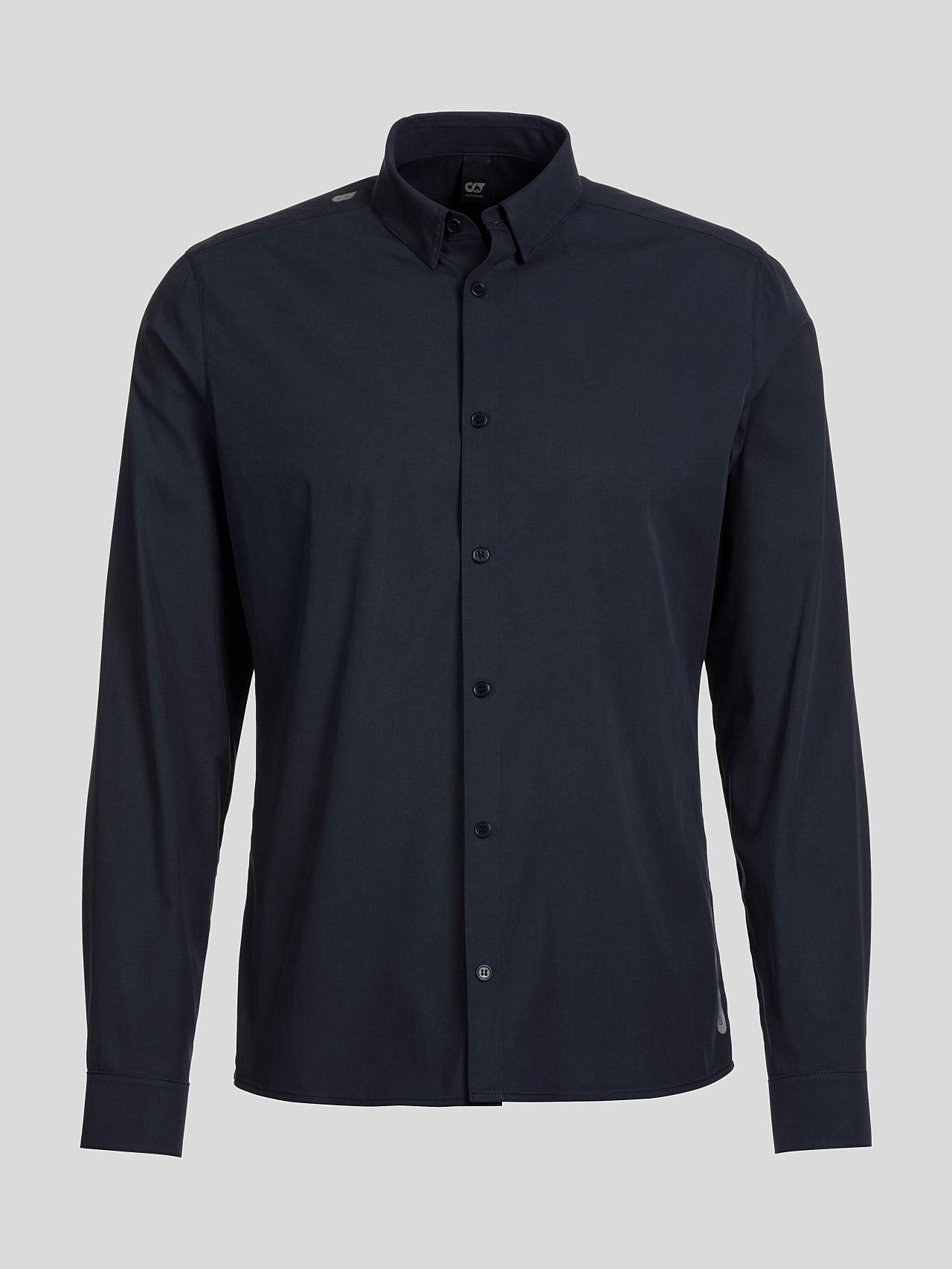 WAARG V1.Y5.01 Cotton-Stretch Shirt navy Back Alpha Tauri