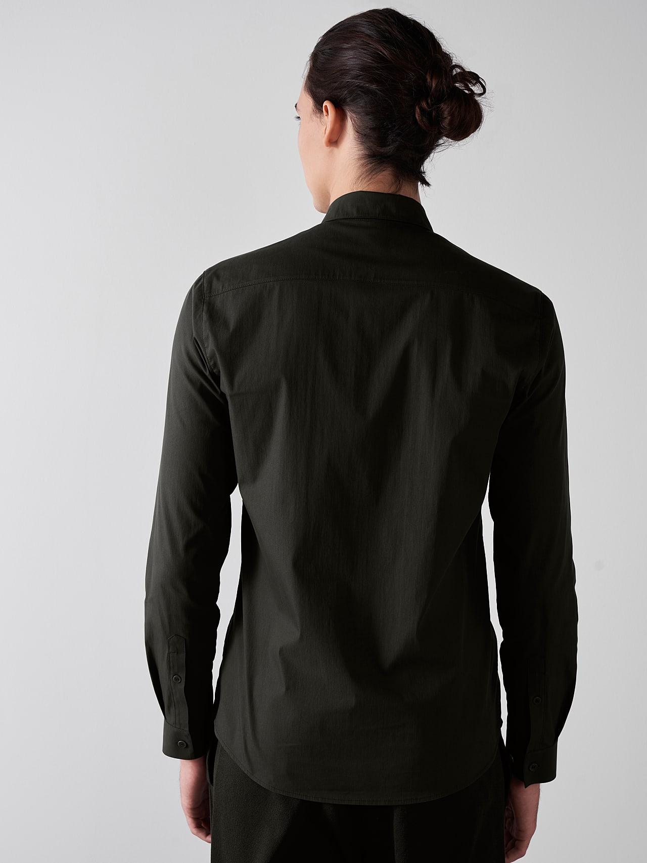 WAARG V1.Y5.01 Cotton-Stretch Shirt olive Front Main Alpha Tauri