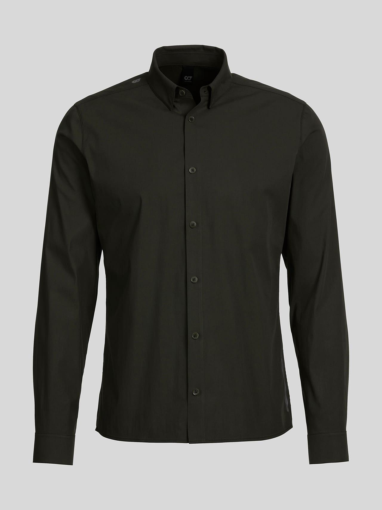WAARG V1.Y5.01 Cotton-Stretch Shirt olive Back Alpha Tauri