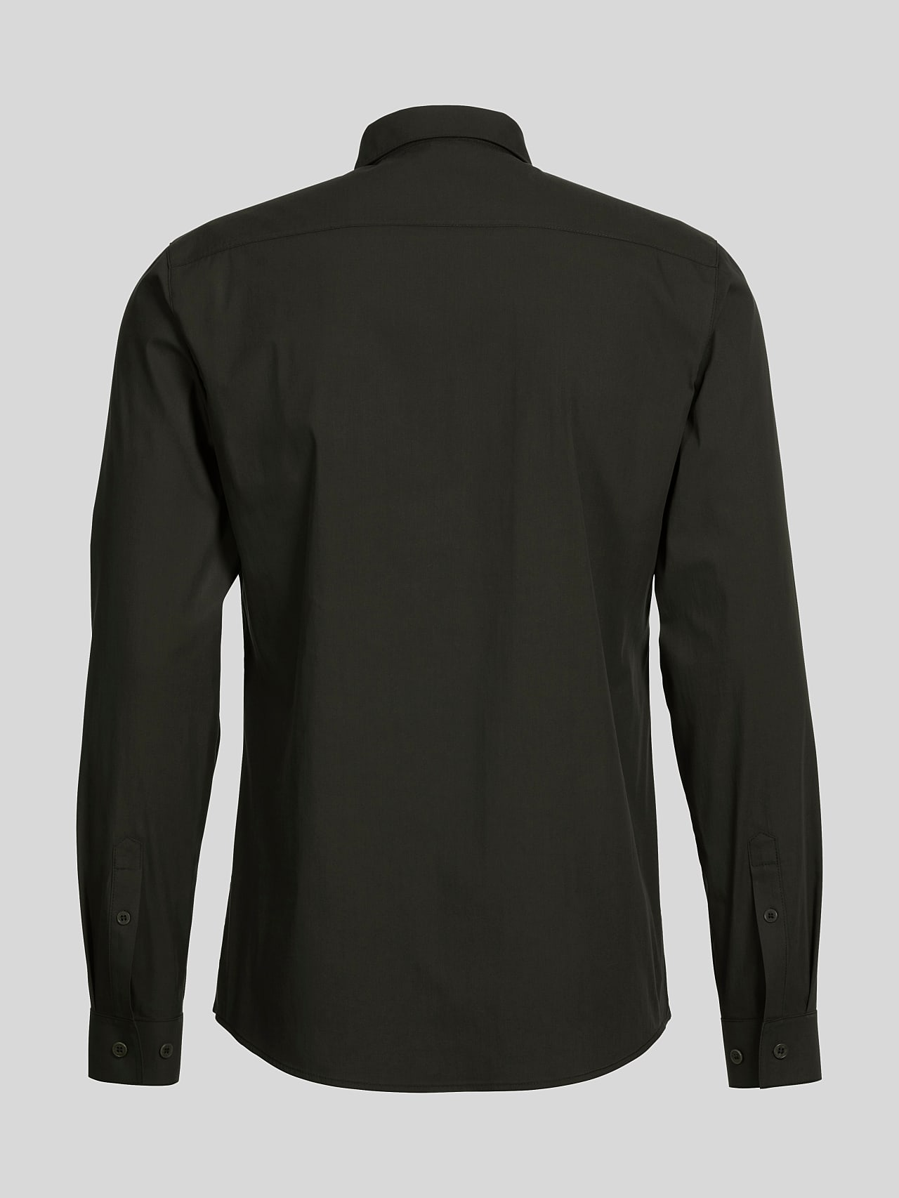 WAARG V1.Y5.01 Cotton-Stretch Shirt olive Left Alpha Tauri