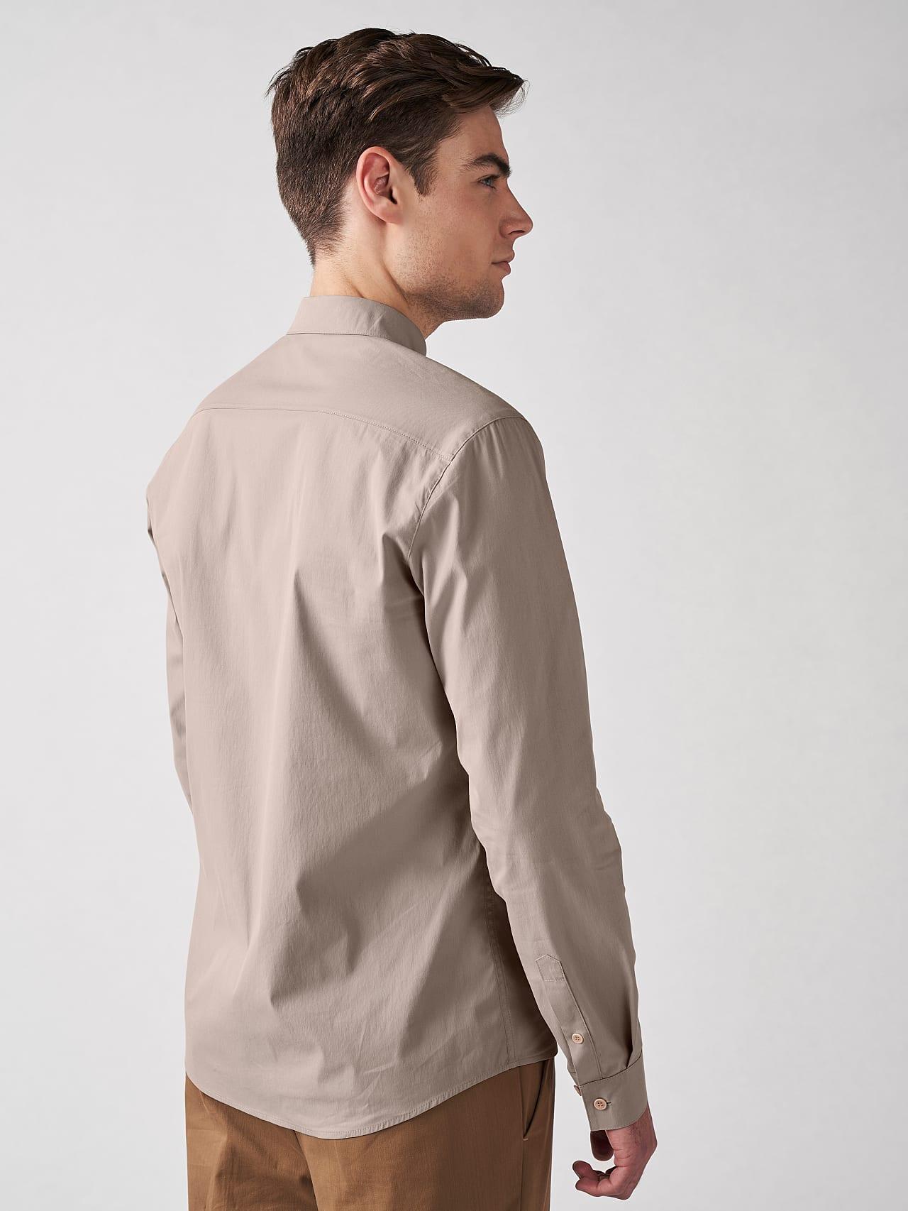 WAARG V1.Y5.01 Cotton-Stretch Shirt Sand Front Main Alpha Tauri