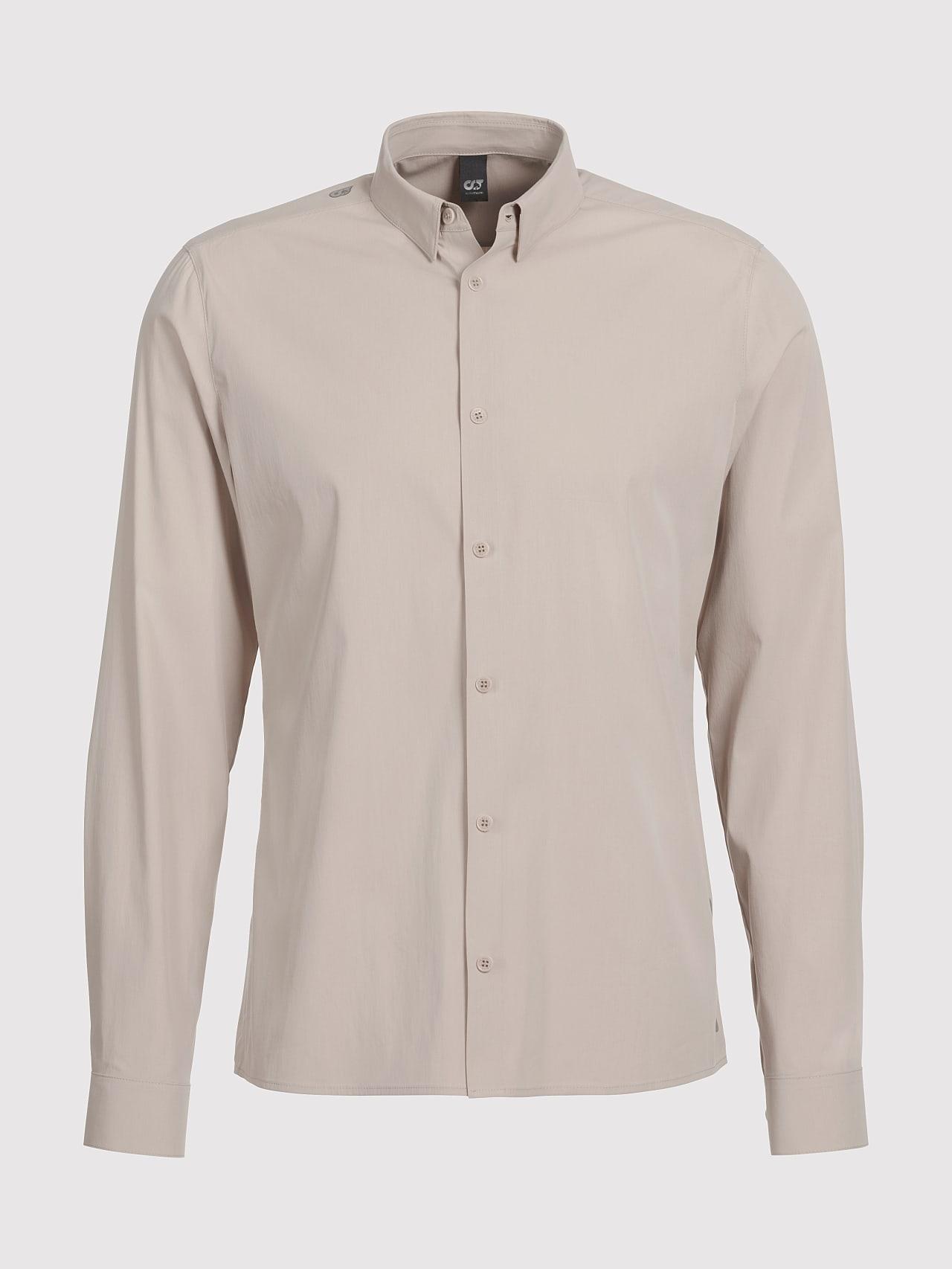 WAARG V1.Y5.01 Cotton-Stretch Shirt Sand Back Alpha Tauri