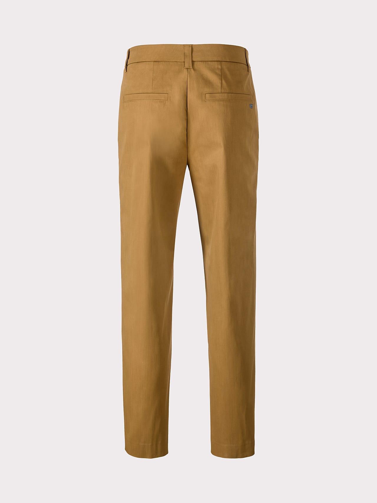 PLAIZ V2.Y5.01 Water-Repellent Cotton-Stretch Chino brown Left Alpha Tauri