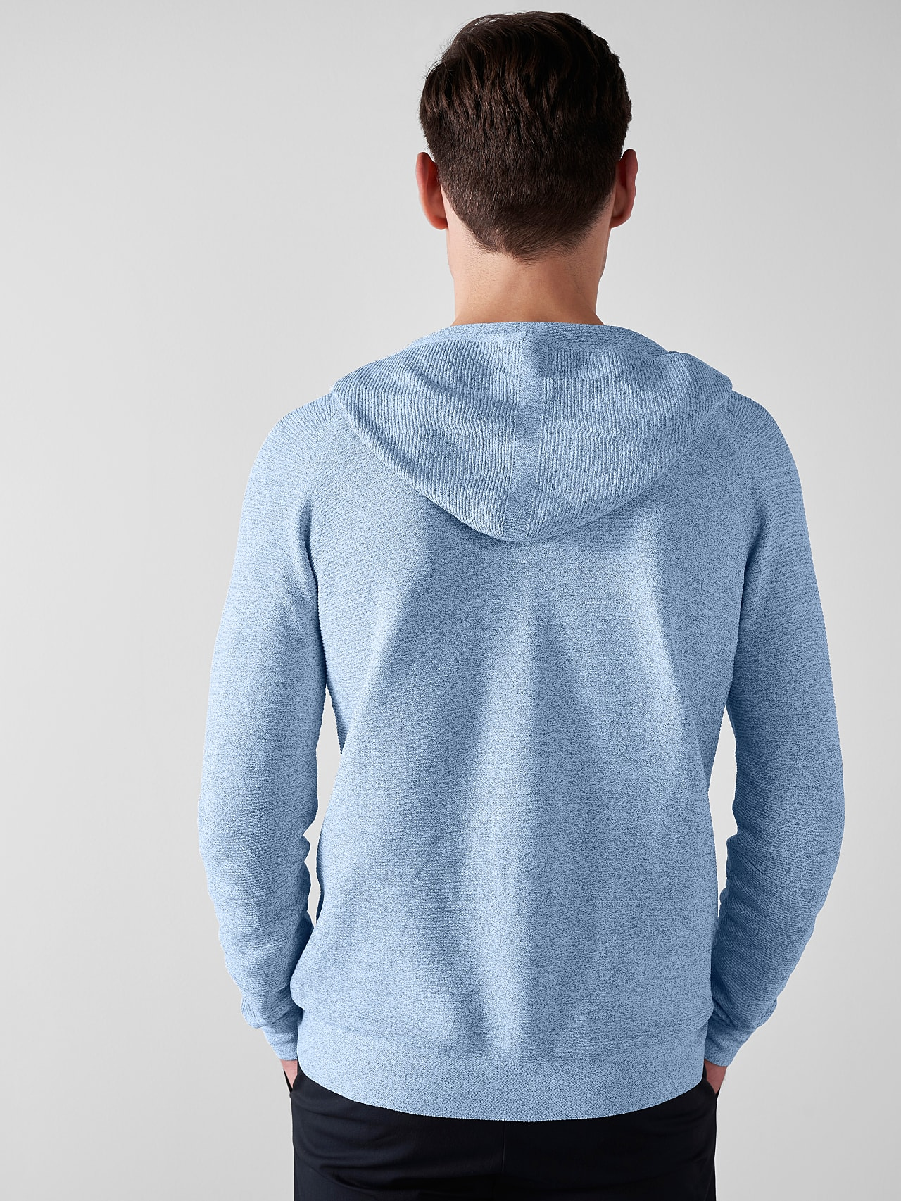 FURAP V3.Y5.01 Seamless Knit Hoodie blue / white Front Main Alpha Tauri