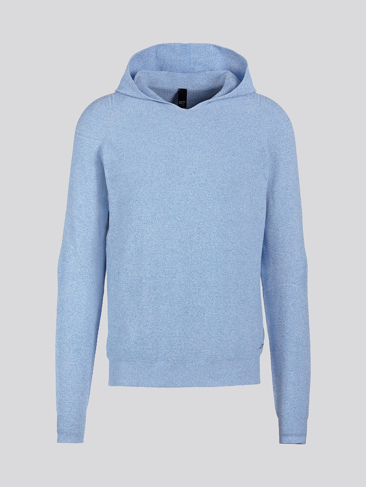 FURAP V3.Y5.01 Seamless Knit Hoodie blue / white Back Alpha Tauri