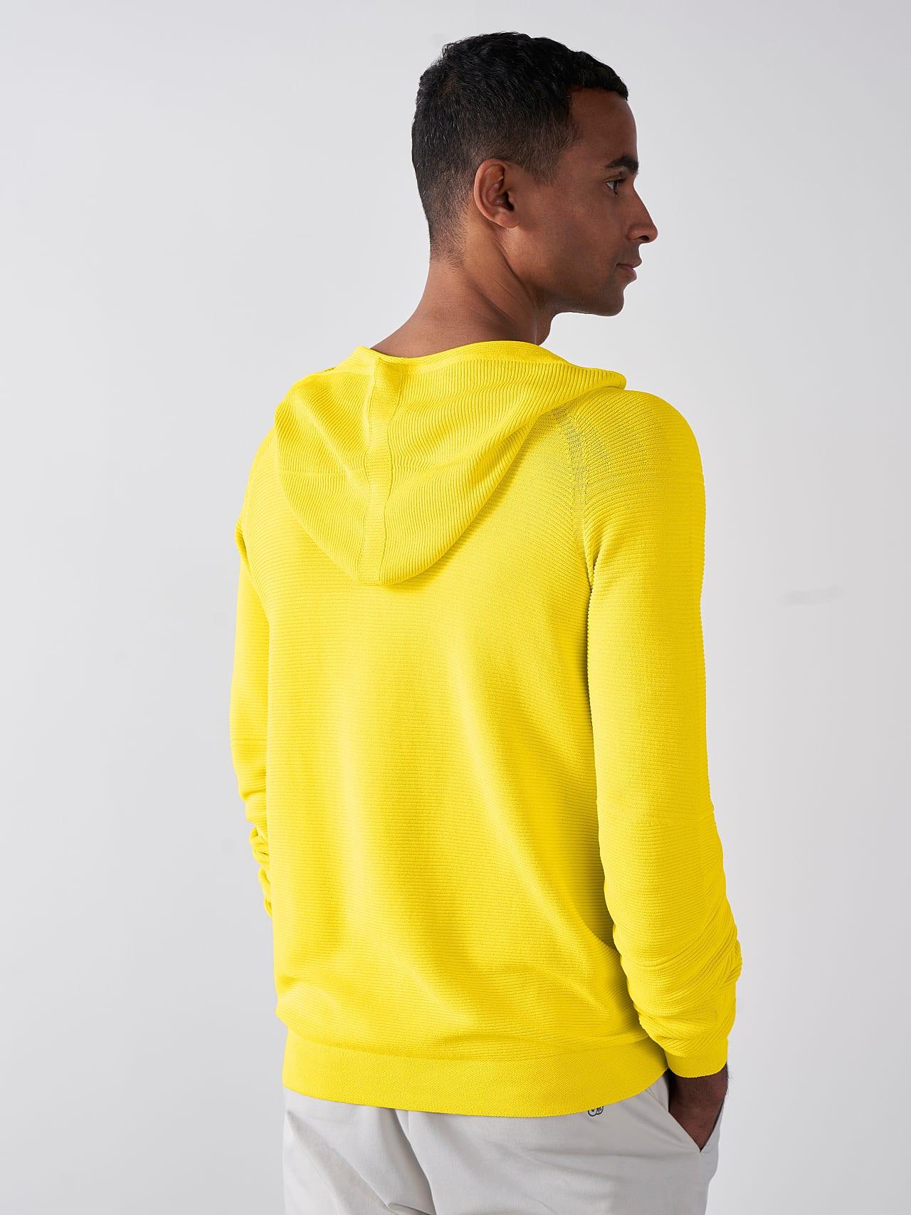 FURAP V3.Y5.01 Seamless Knit Hoodie yellow Model shot Alpha Tauri