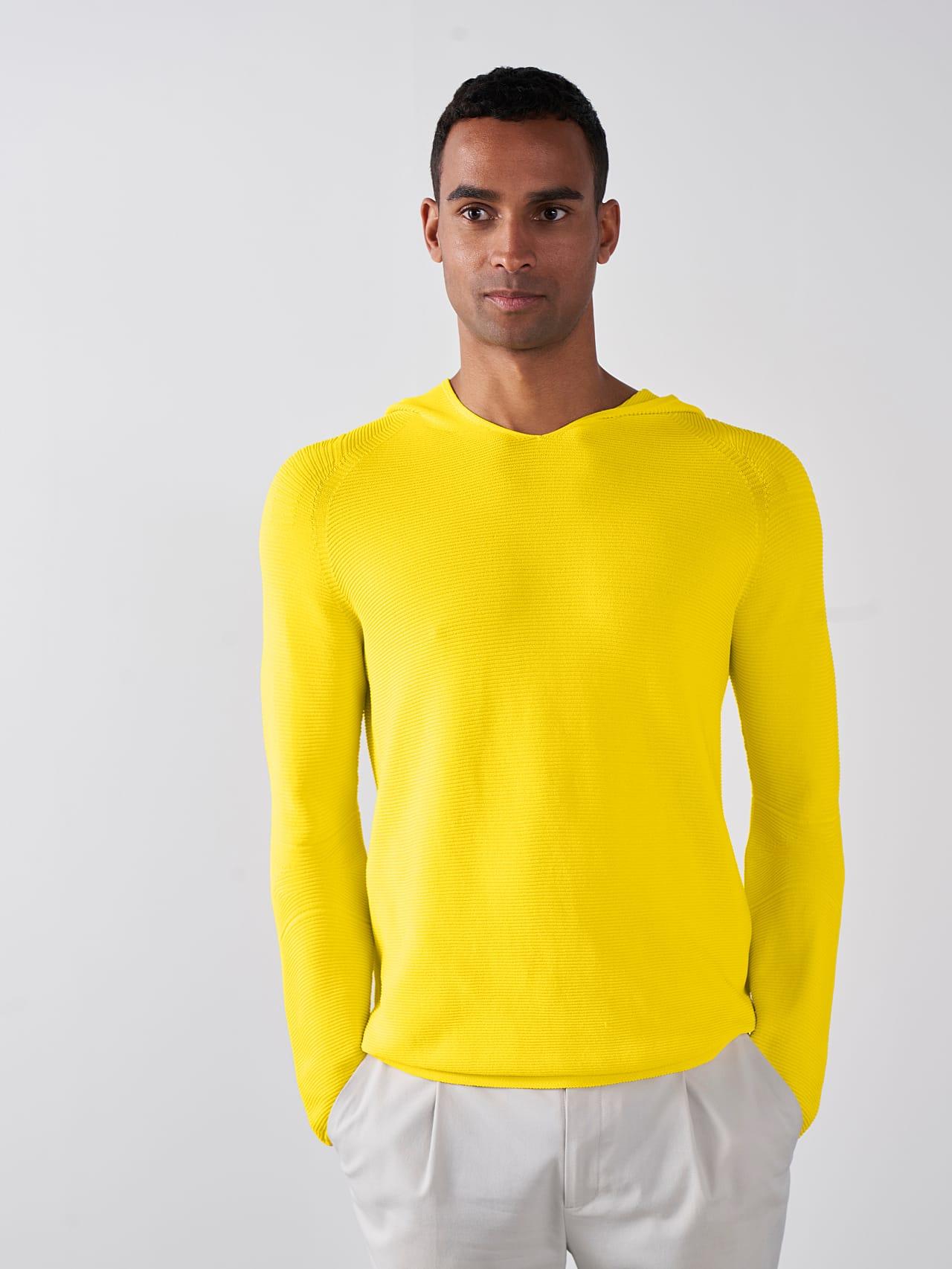 FURAP V3.Y5.01 Seamless Knit Hoodie yellow Front Main Alpha Tauri
