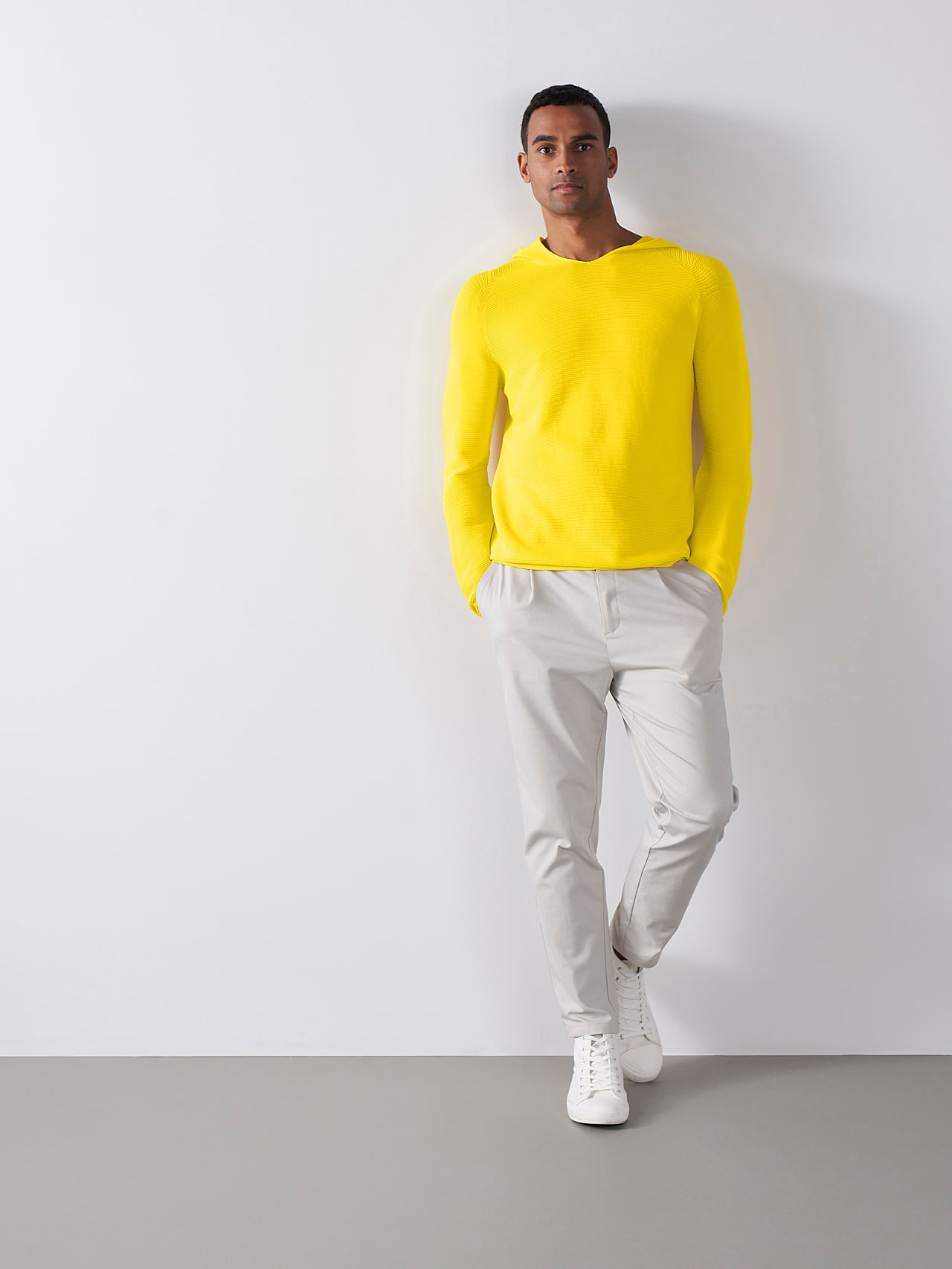FURAP V3.Y5.01 Seamless Knit Hoodie yellow Front Alpha Tauri