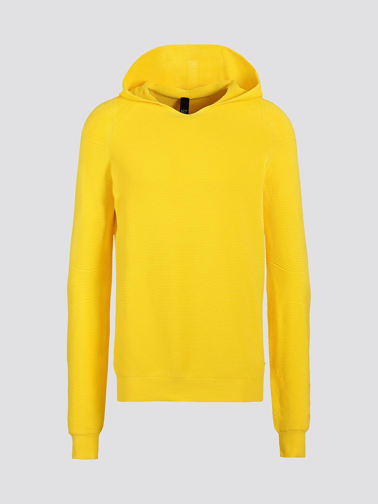 FURAP V3.Y5.01 Seamless Knit Hoodie yellow Back Alpha Tauri