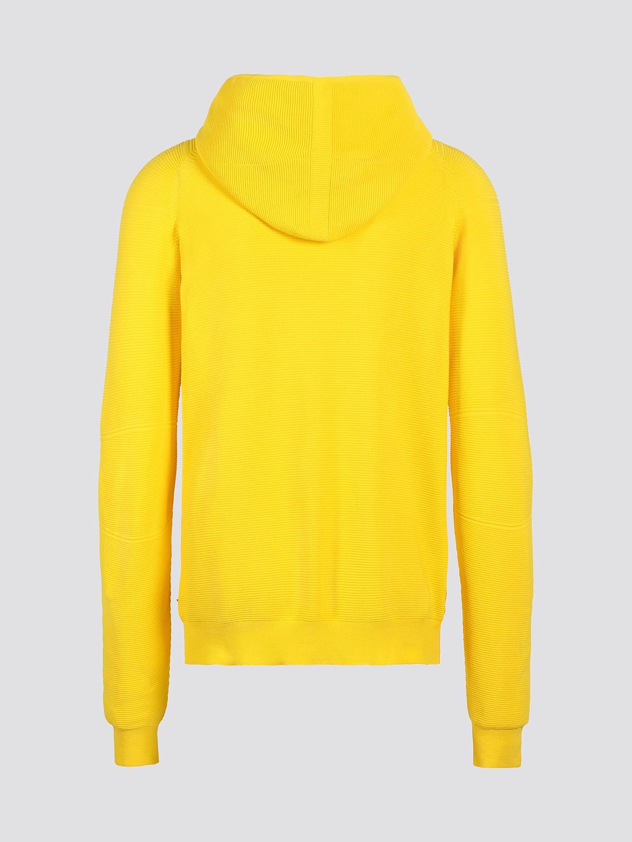 FURAP V3.Y5.01 Seamless Knit Hoodie yellow Left Alpha Tauri